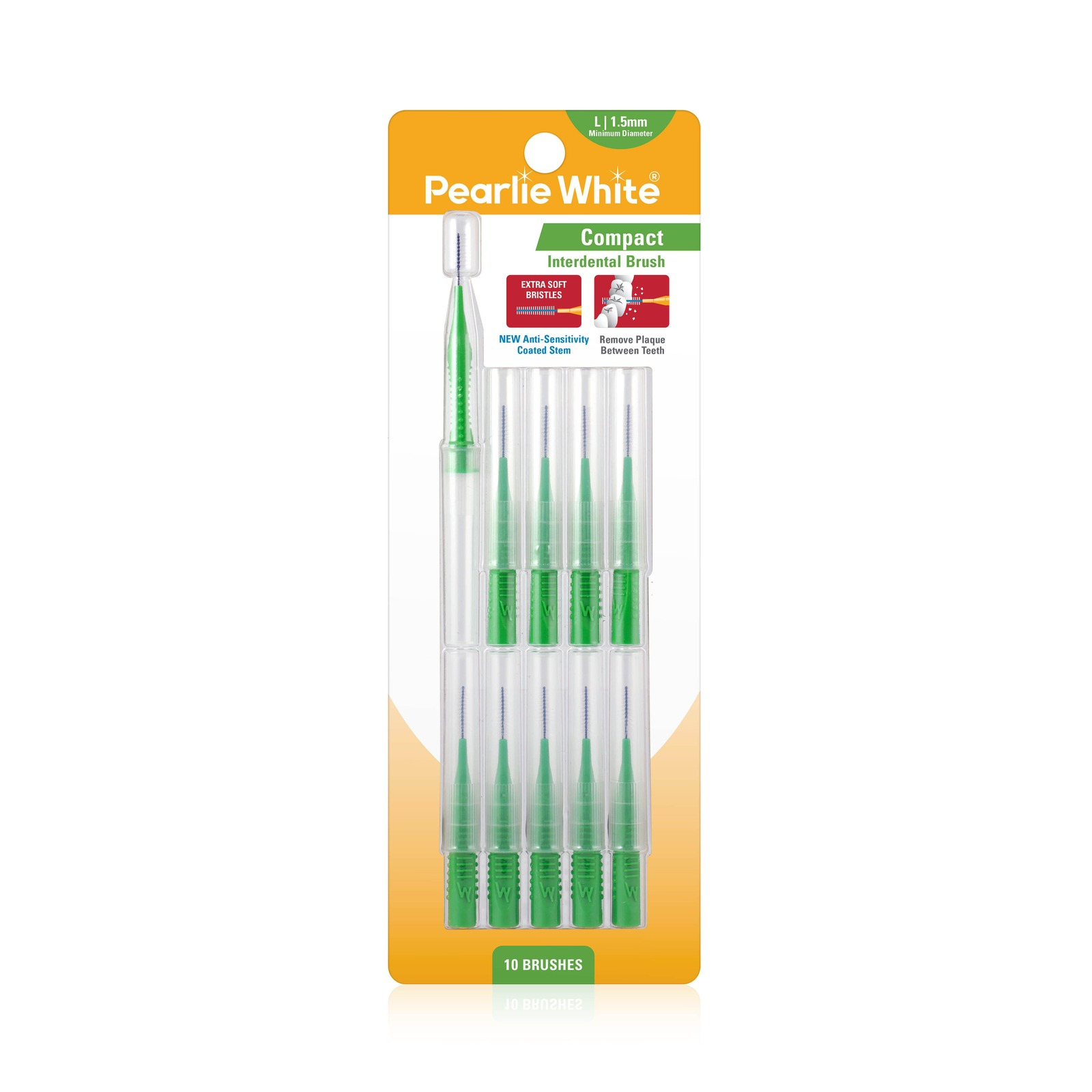 Pearlie White Compact Interdental Brushes L 1.5mm