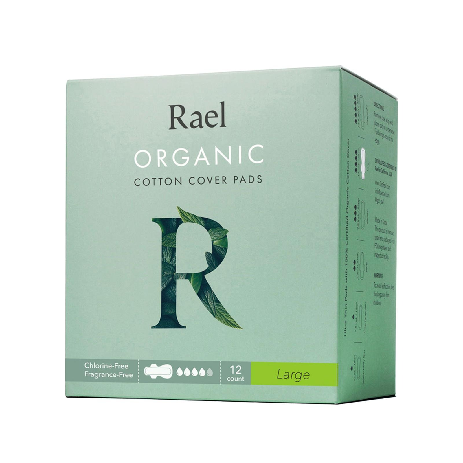 Rael Organic Cotton Cover Pads - Large