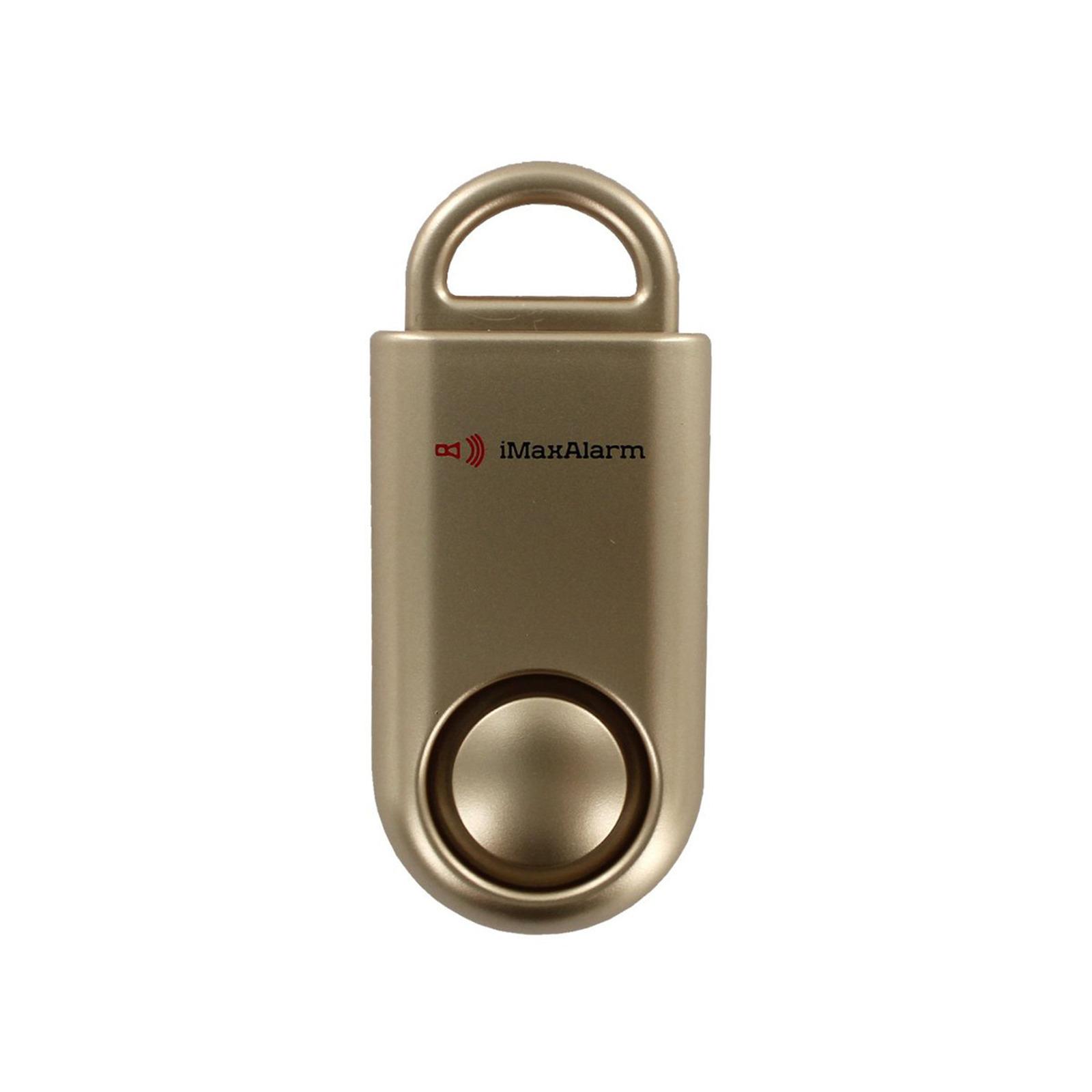 iMaxAlarm Portable SOS Alert Personal Security Alarm (Gold)