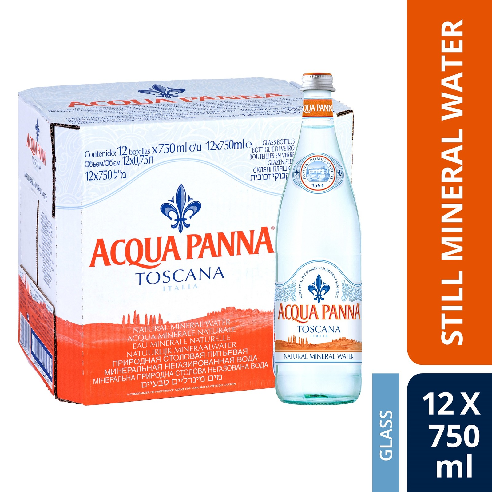 Acqua Panna Natural Mineral Water (Case of 12)-By Culina