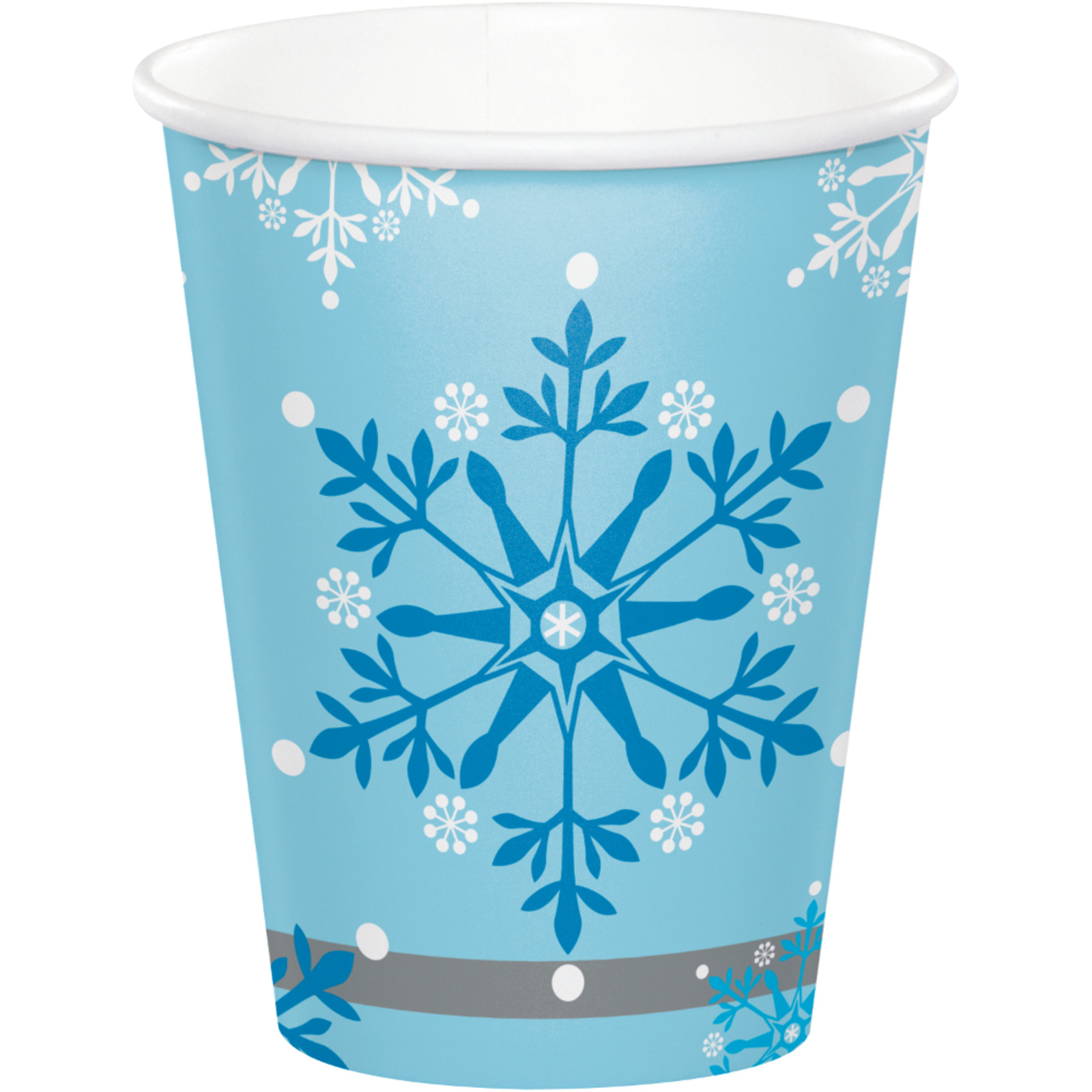 Creative Converting Snow Princess 9 oz Paper Cups 8 PCS / Pack