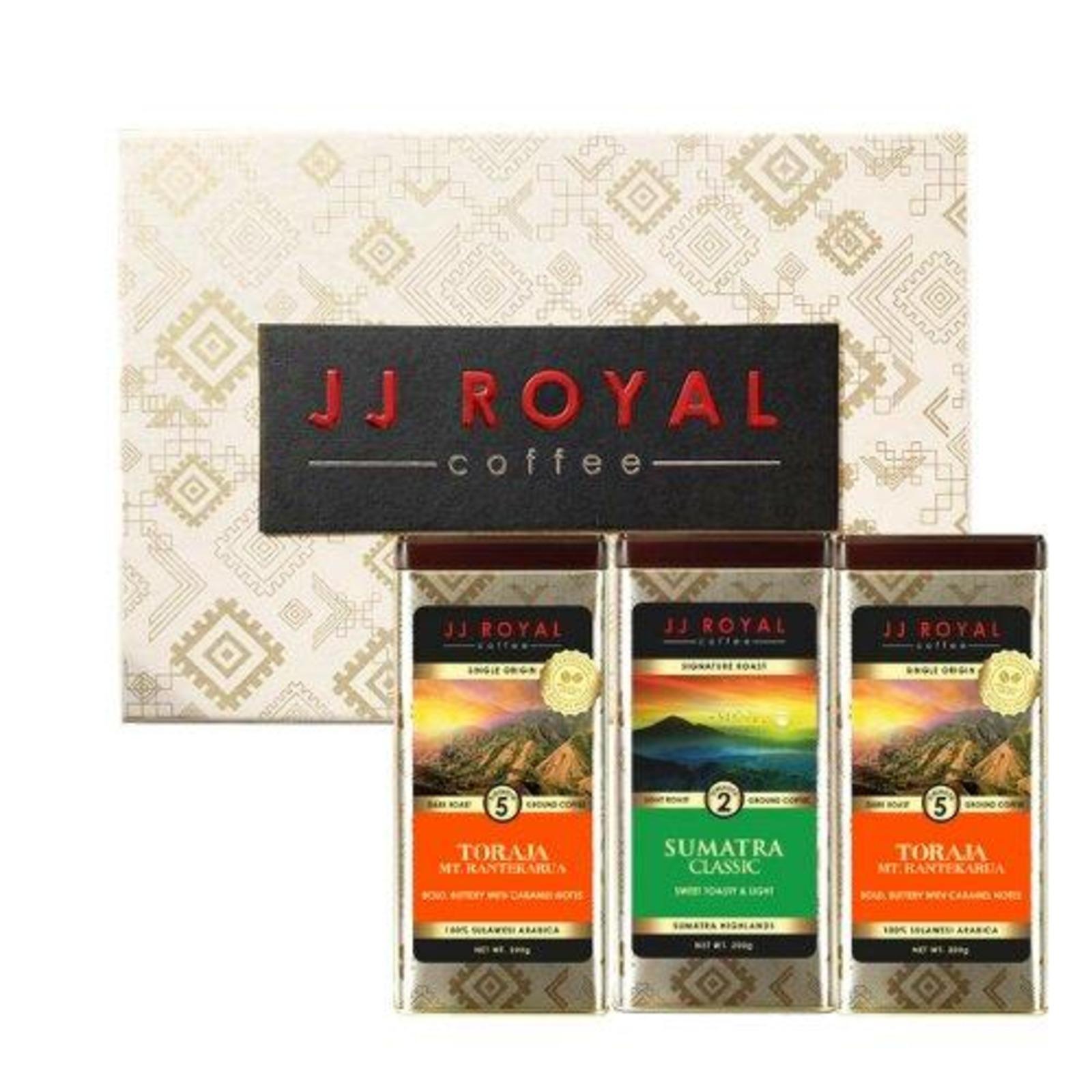 JJ Royal Coffee - Toraja Ground Coffee Set & Free Gift Bag
