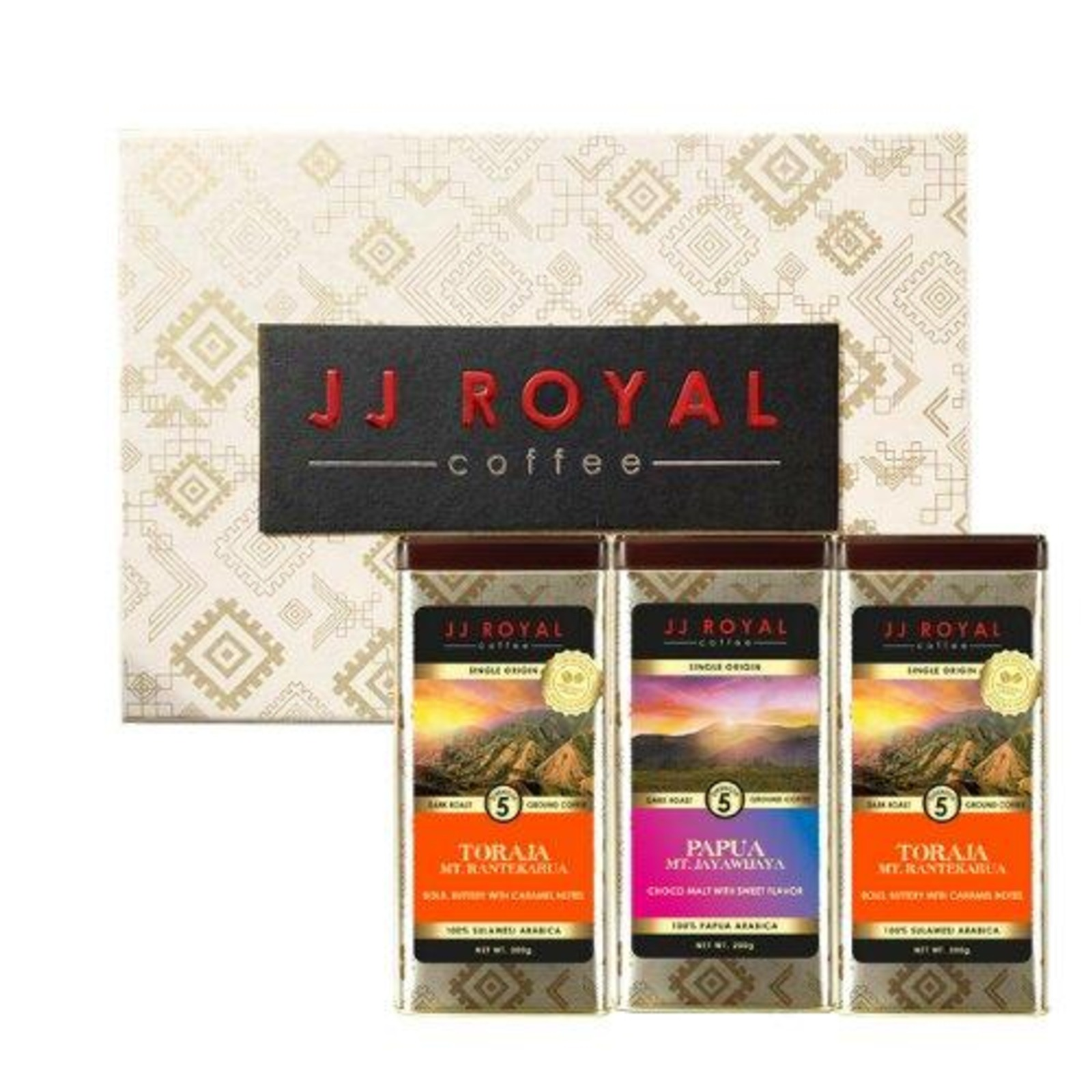 JJ Royal Coffee - Toraja & Papua Coffee Bean Trio