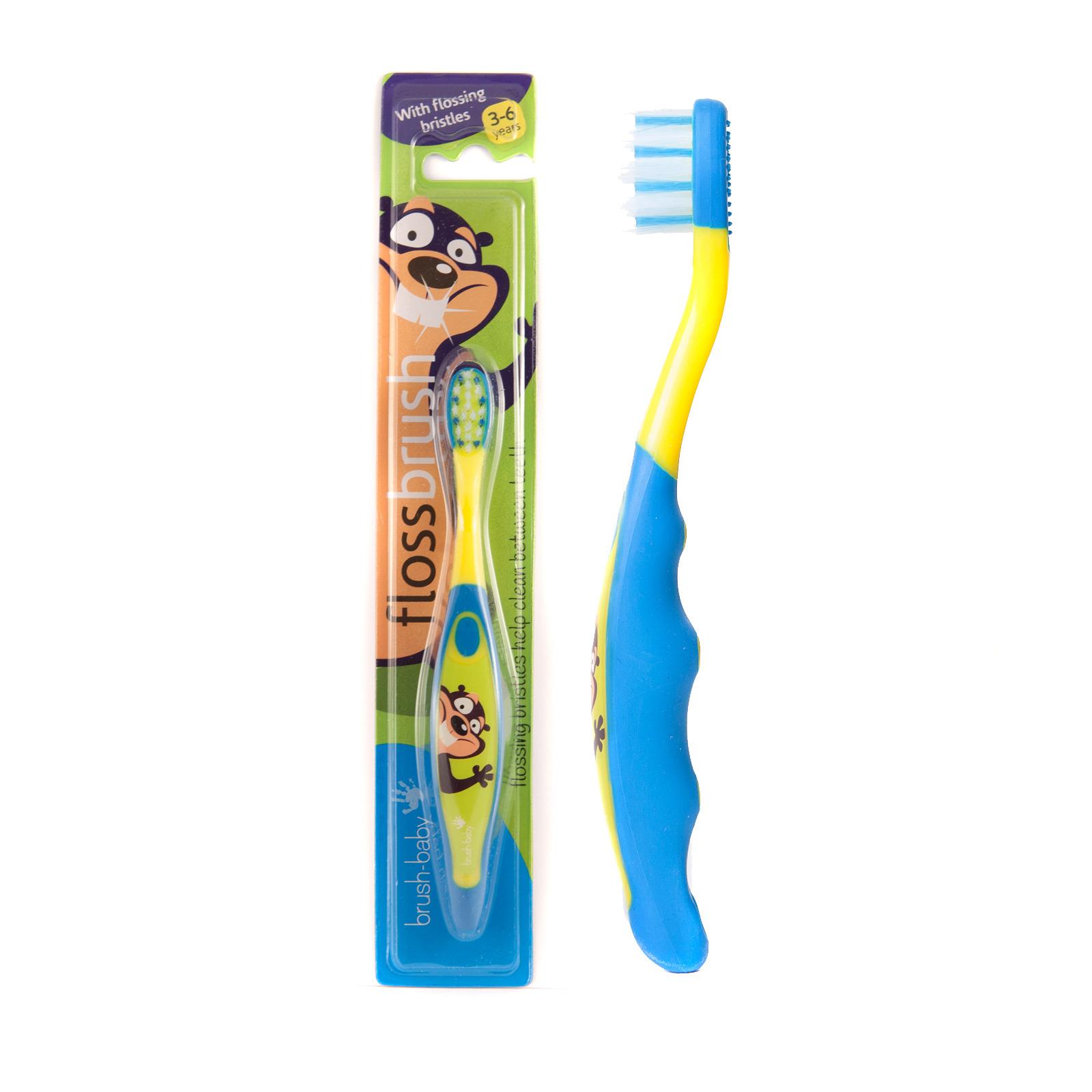 Brush-Baby Floss Brush 3-6 yrs (Pink/Green/Orange/Blue)