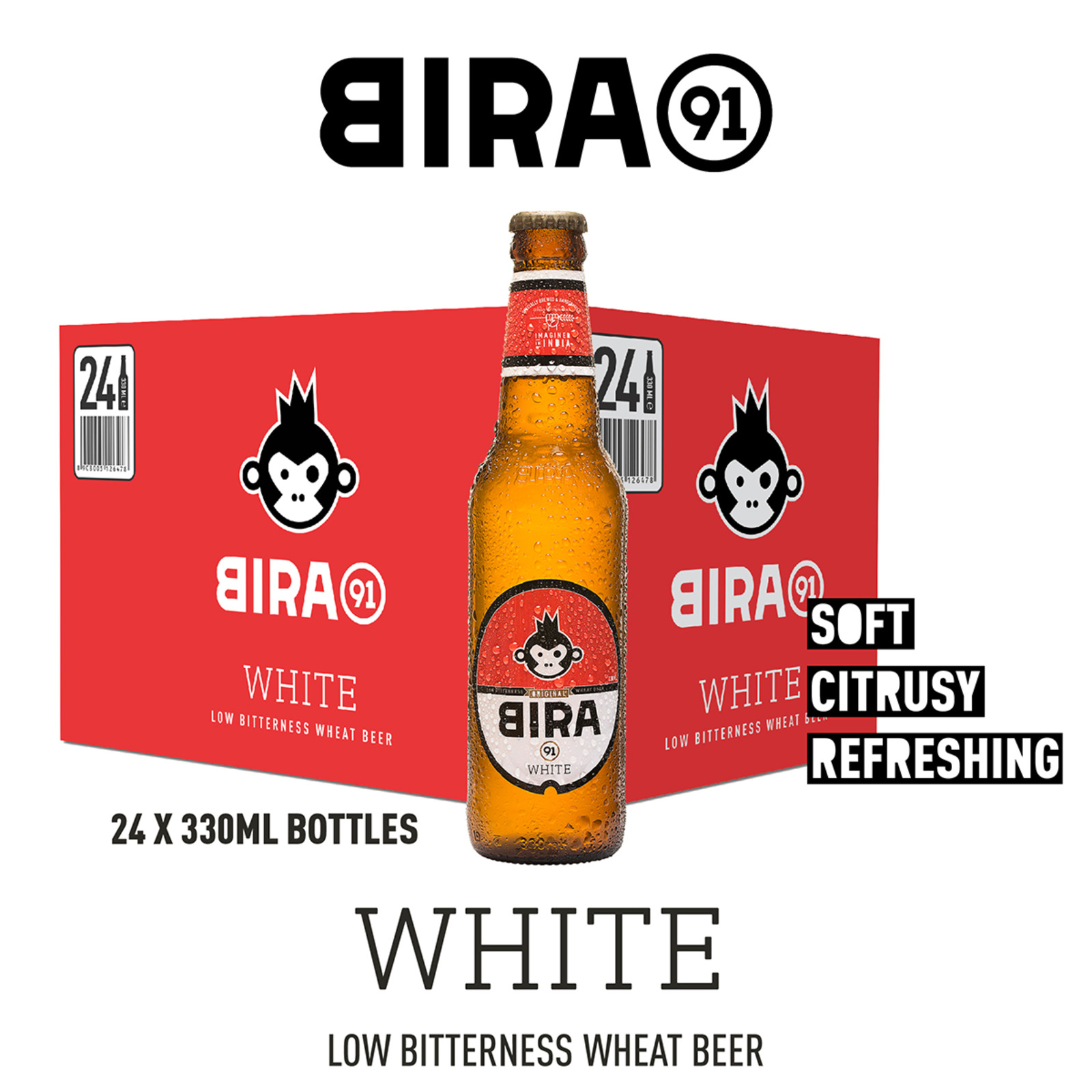 Bira 91 White Beer 4.7% Bottle - Case
