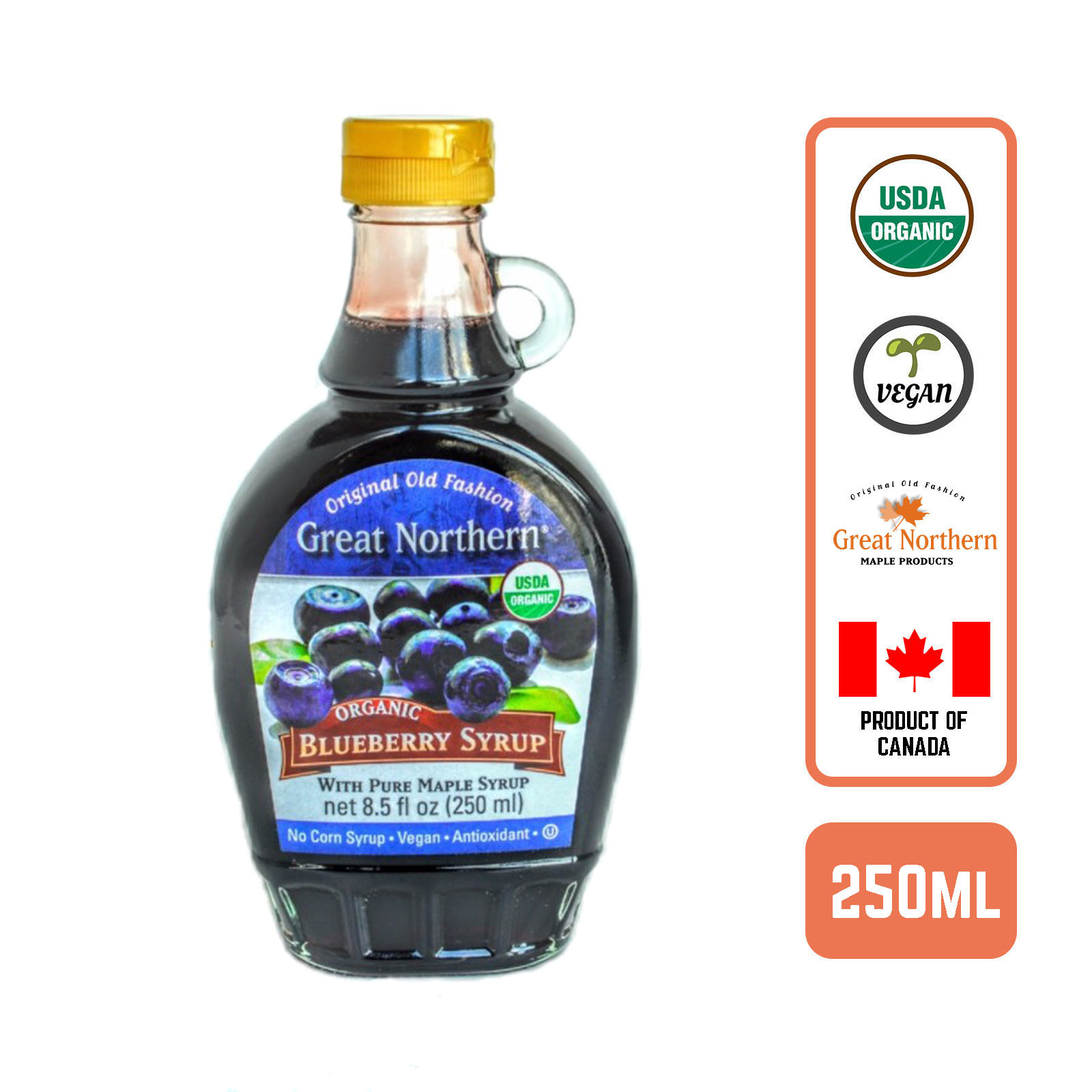 Great Northern Organic Blueberry Maple Syrup - by Foodsterr