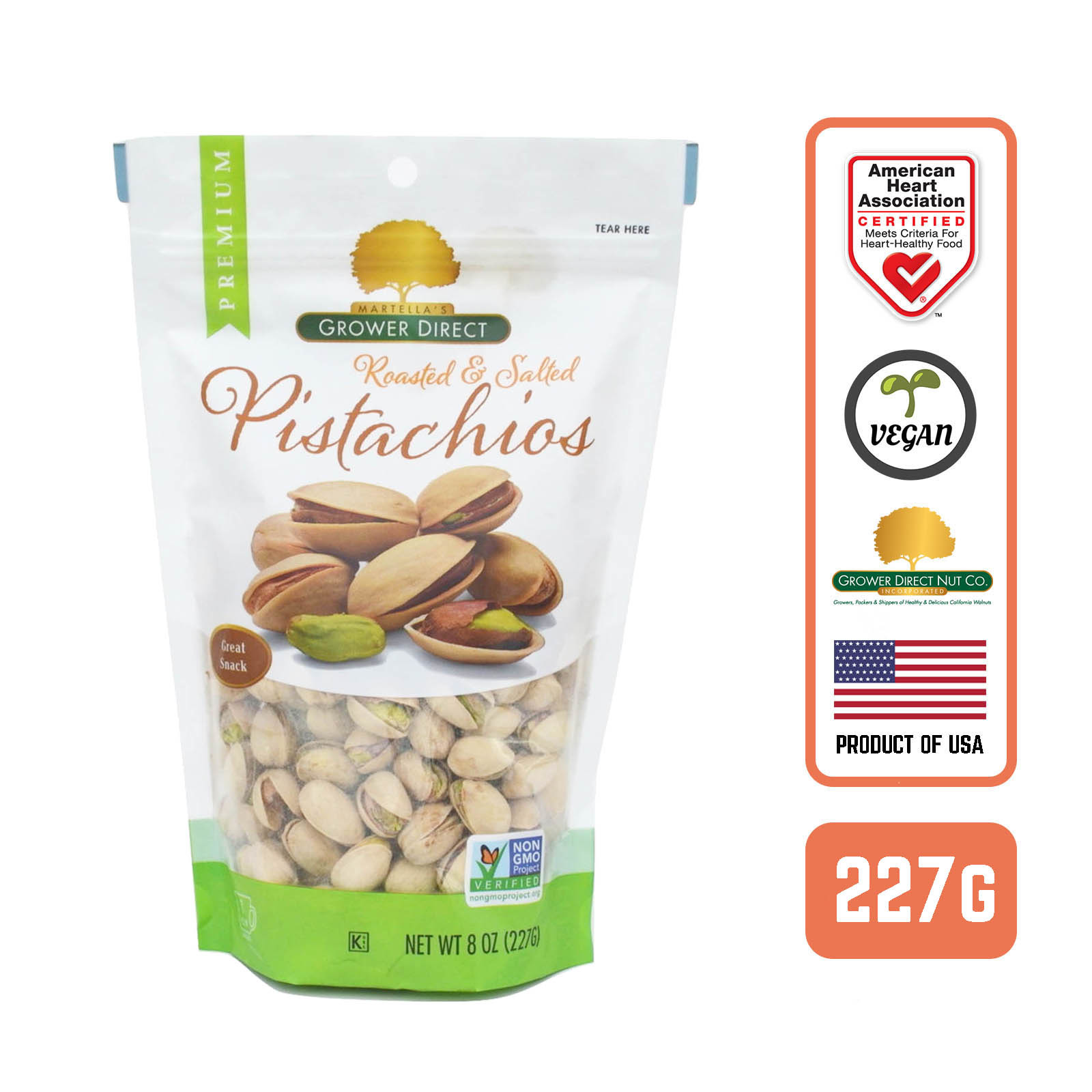 Grower Direct Roasted And Salted Pistachios - by Foodsterr