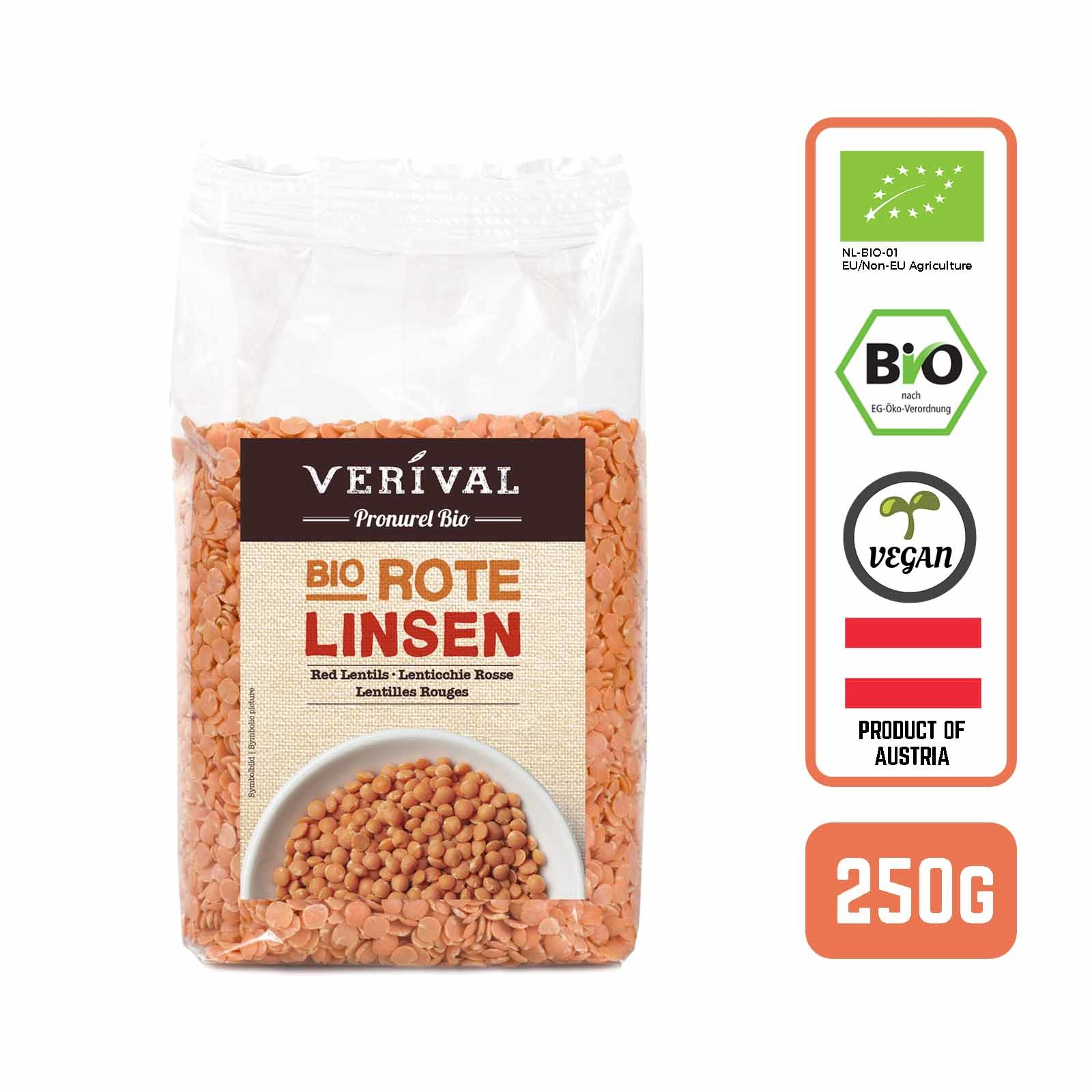 Verival Organic Turkish Red Lentils- by Foodsterr