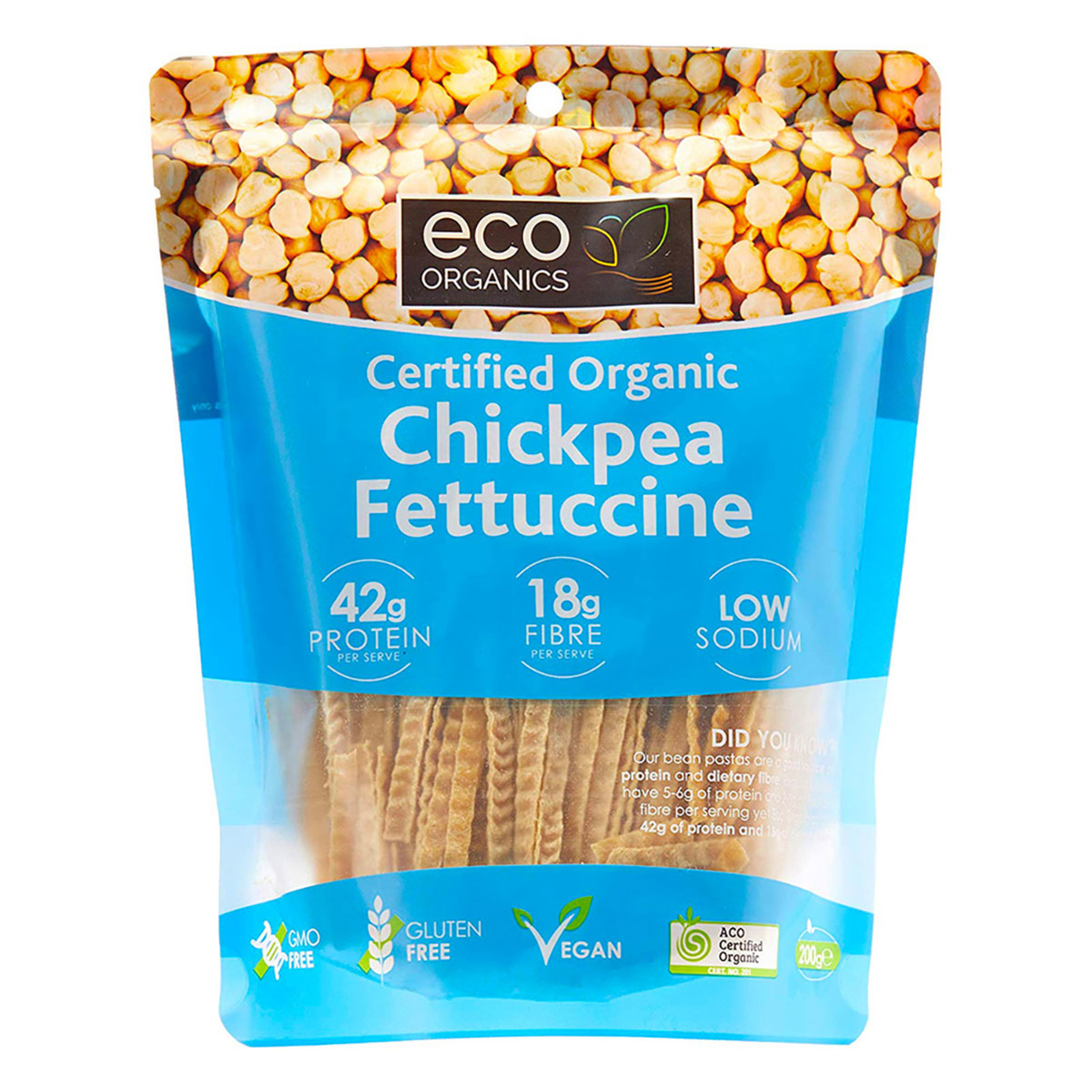 Eco Organics Chickpea Fettuccini