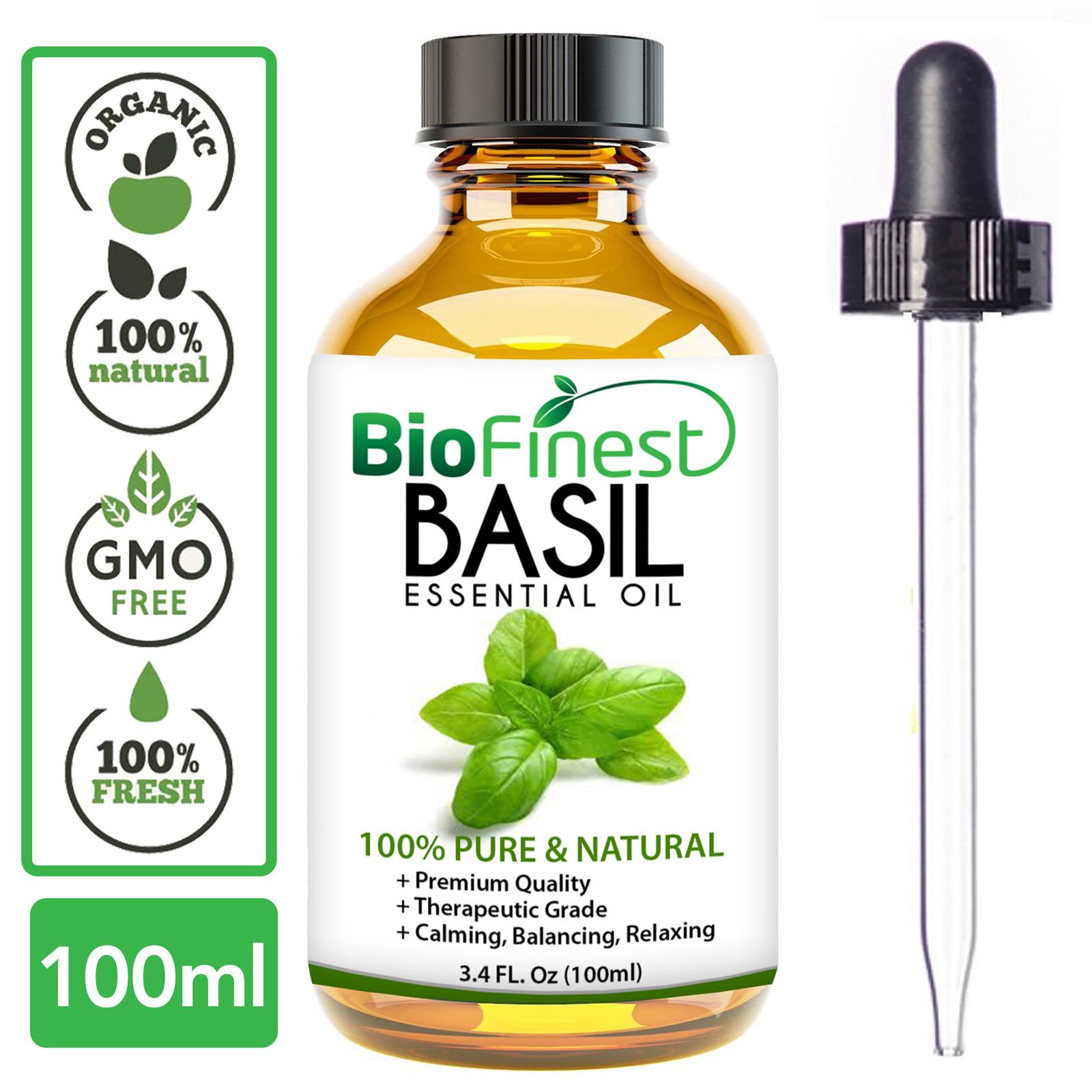 Biofinest Sweet Basil Essential Oil - Organic Pure Undiluted