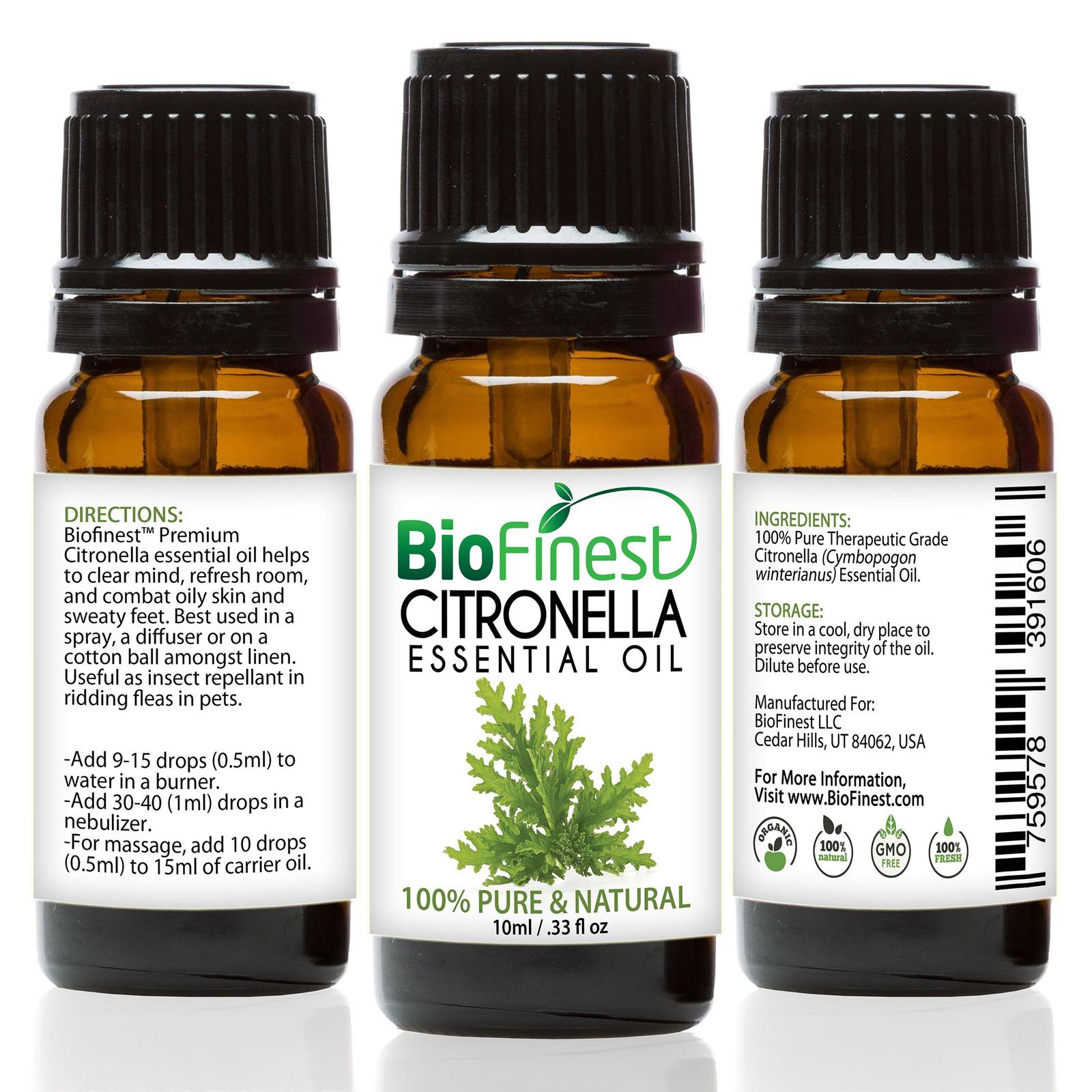 Biofinest Citronella Essential Oil - Organic Pure Undiluted