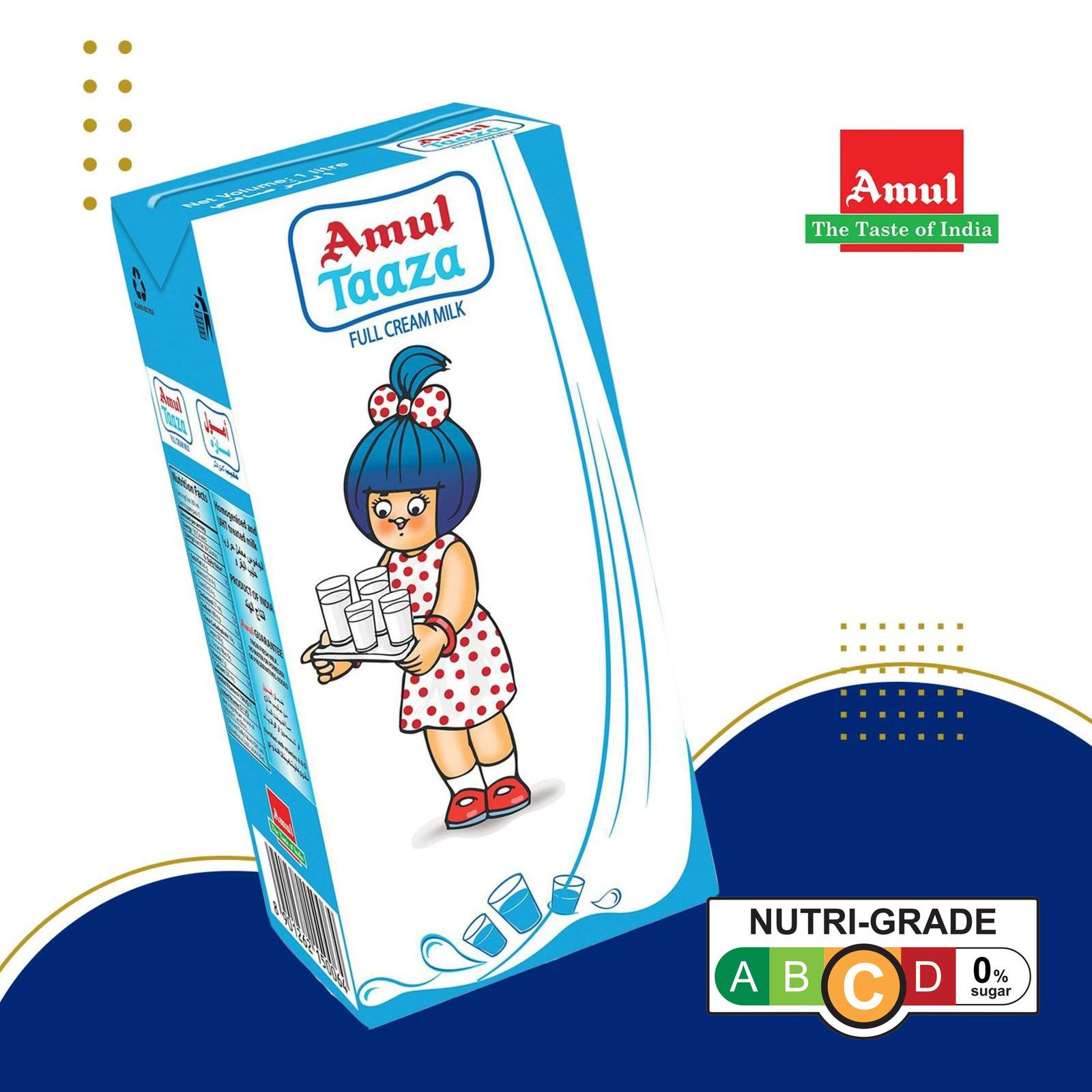 Amul Taaza Uht Milk - Carton