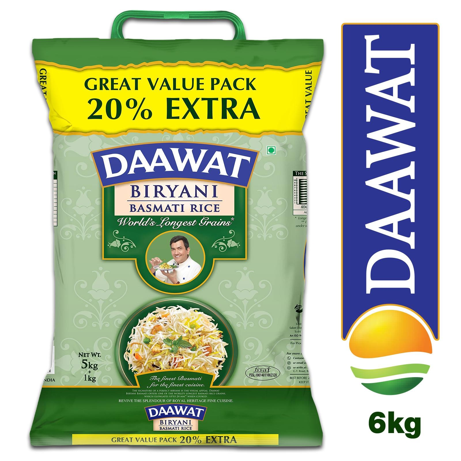 Daawat Biryani Basmati Rice - By Sonnamera