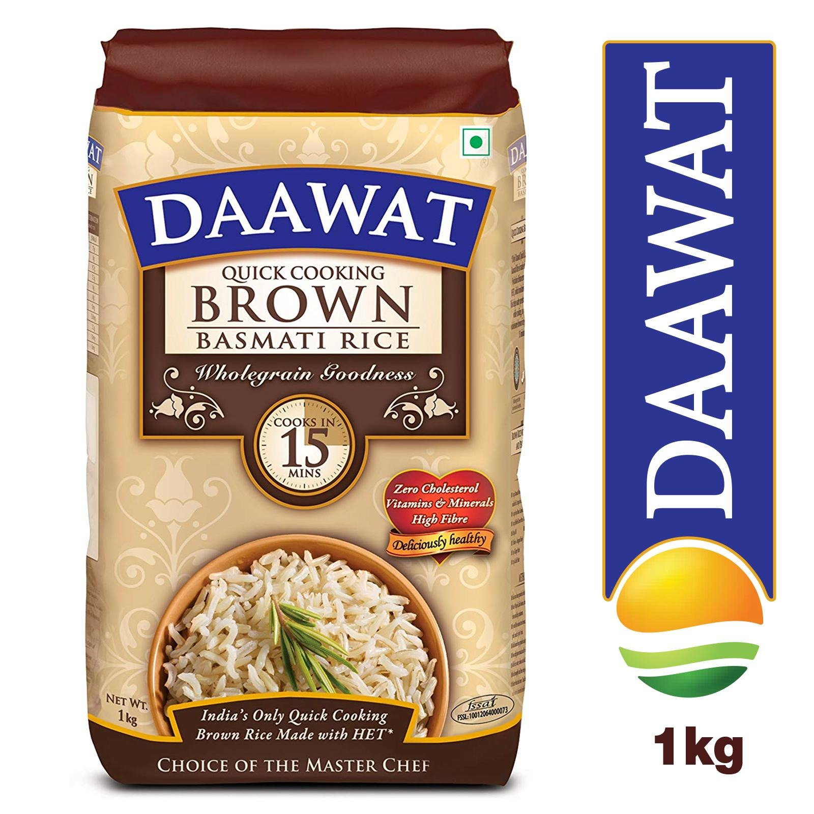 Daawat Quick Cooking Brown Basmati Rice - By Sonnamera