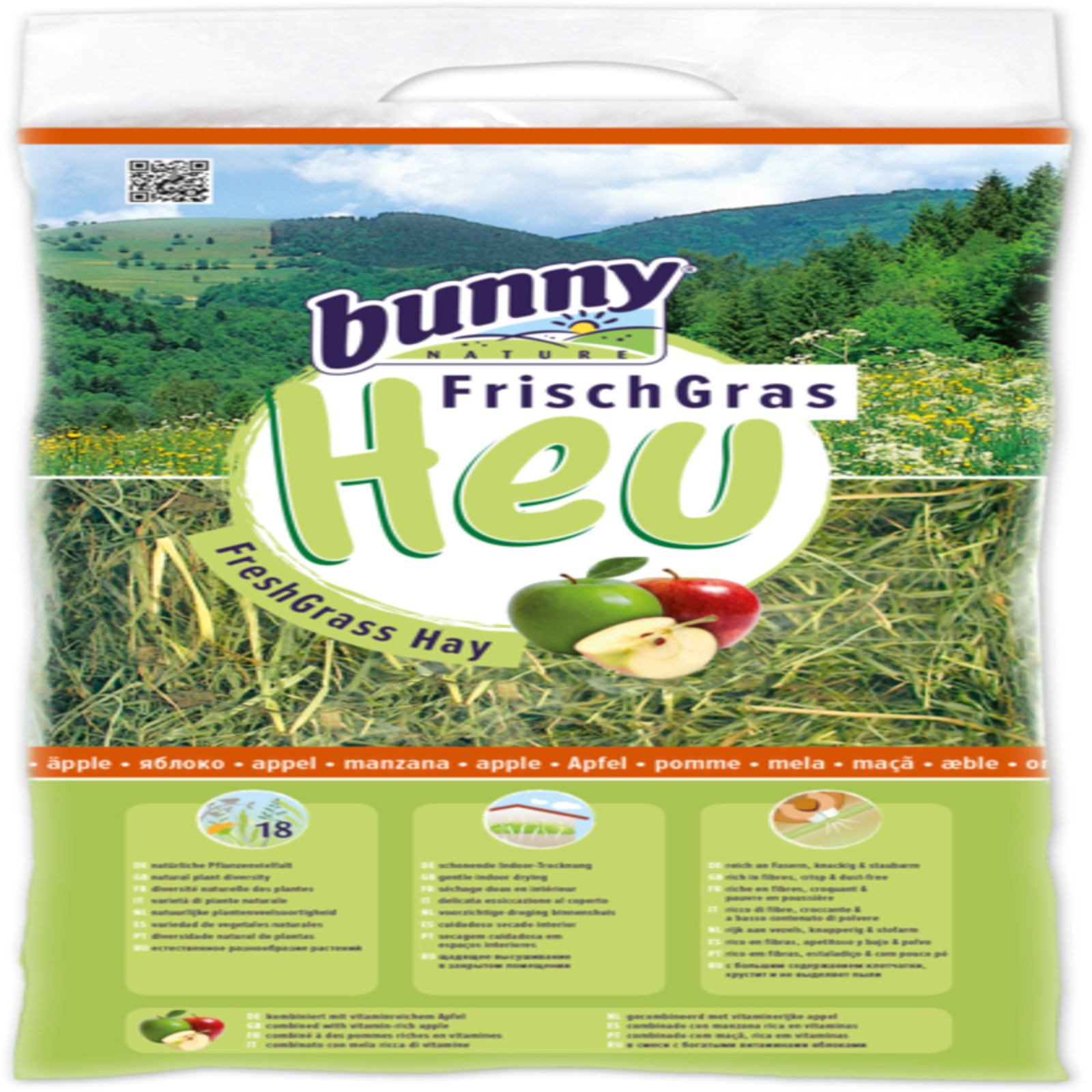 Bunny Nature FreshGrass Hay with Apple