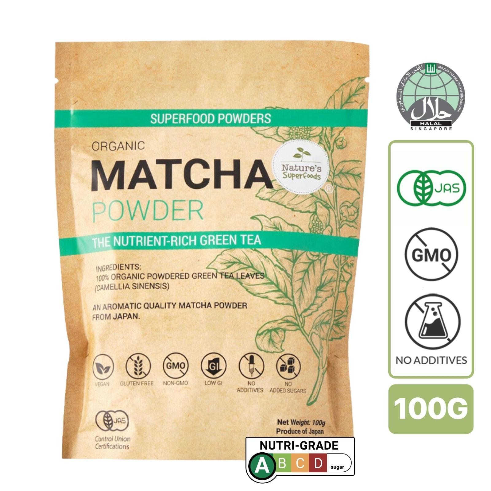 Nature's Superfoods Organic Premium Matcha Powder - For Tea