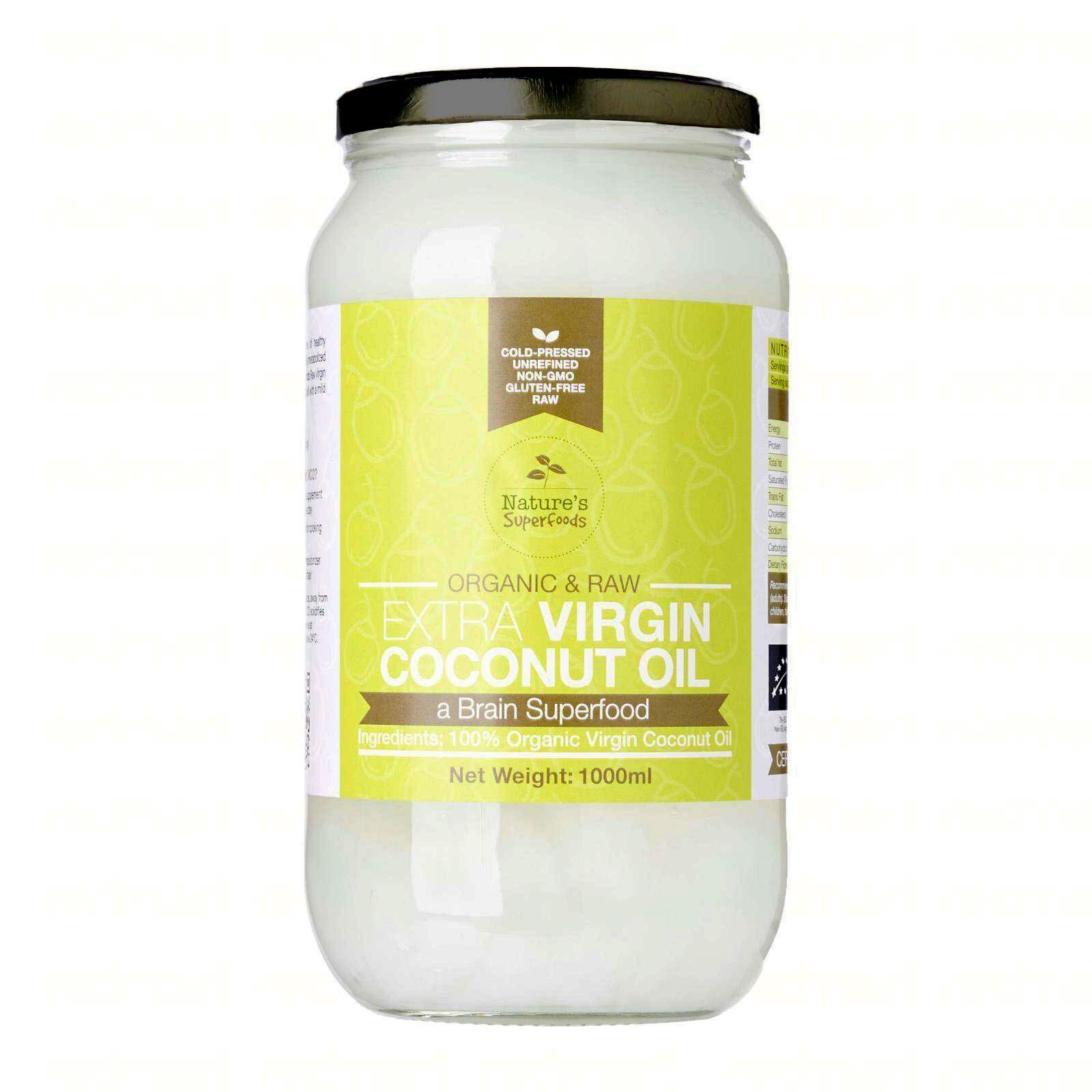Nature's Superfoods Organic Extra Virgin Coconut Oil(glassjar)