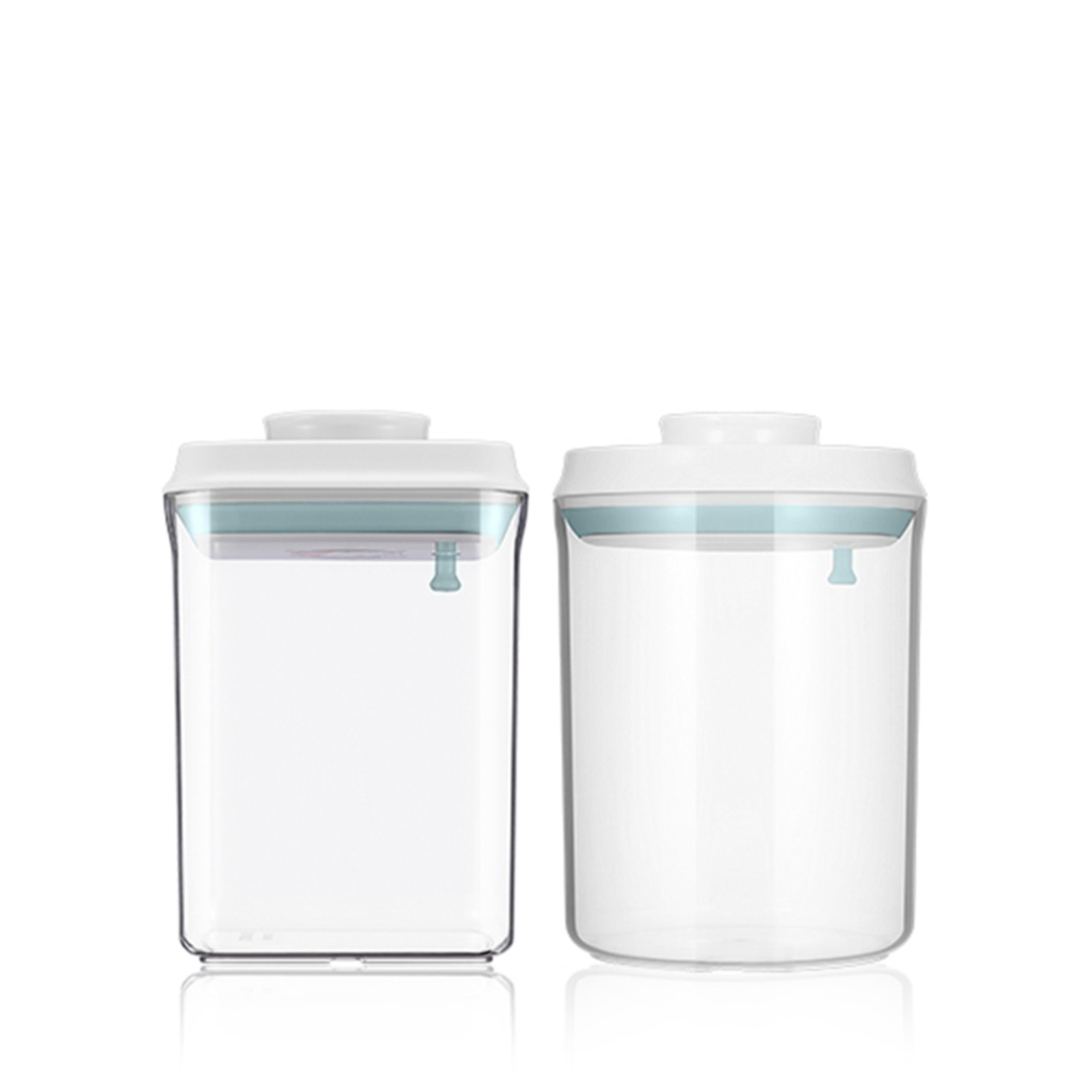 Ankou PLC/PP Round Square Air Tight Container 2pc Set