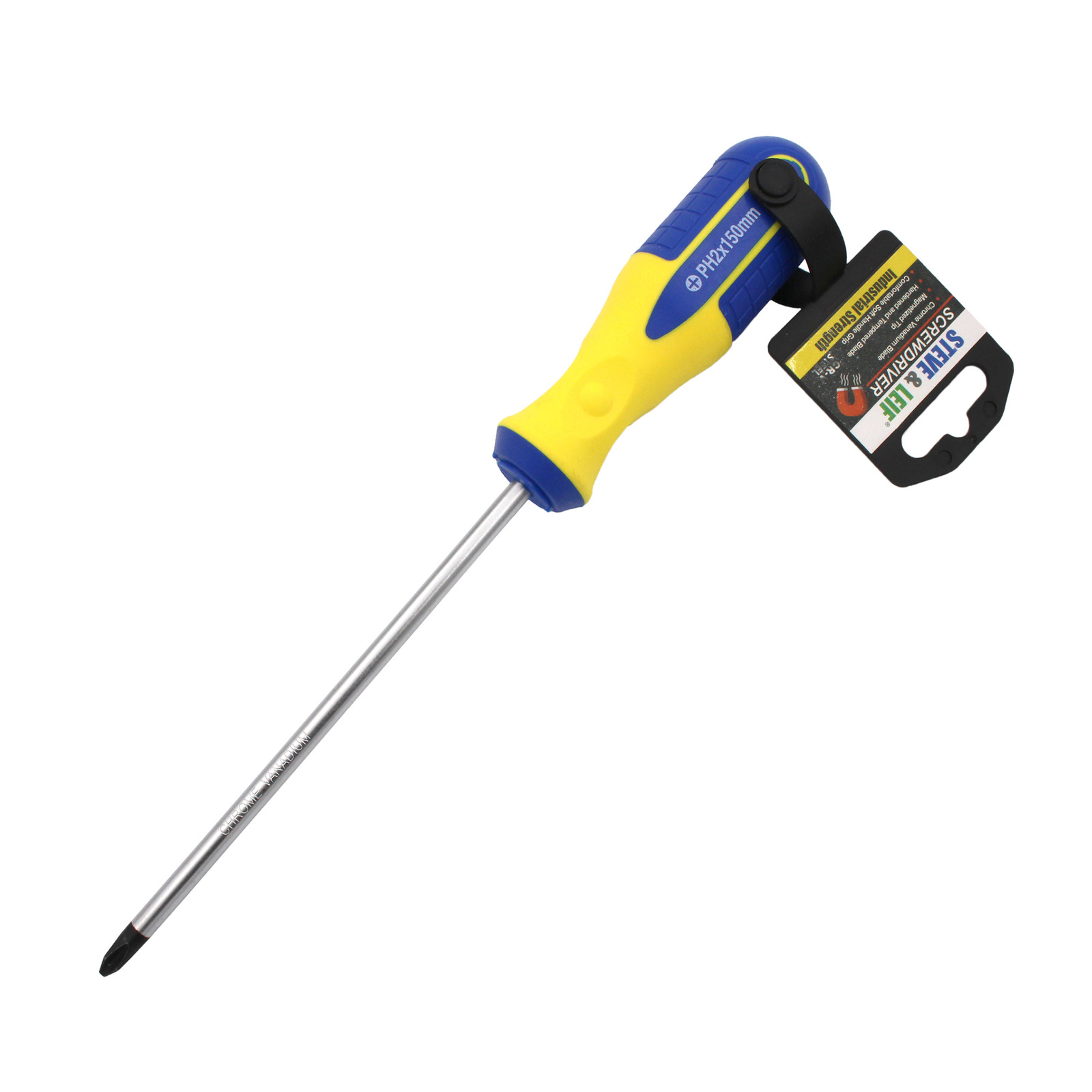 Steve & Leif 6 inch Yellow/Blue Phillips Screwdriver (6x150mm)