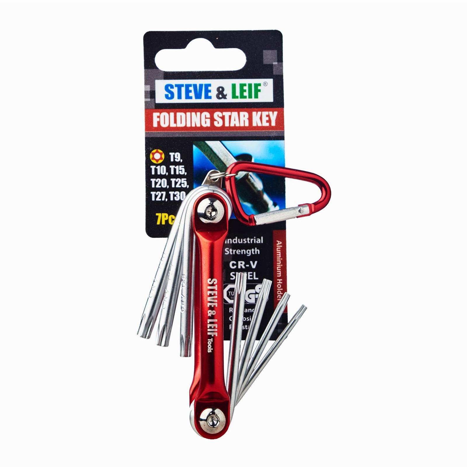 Steve & Leif 7 Pcs DIY Folding Star Key Set