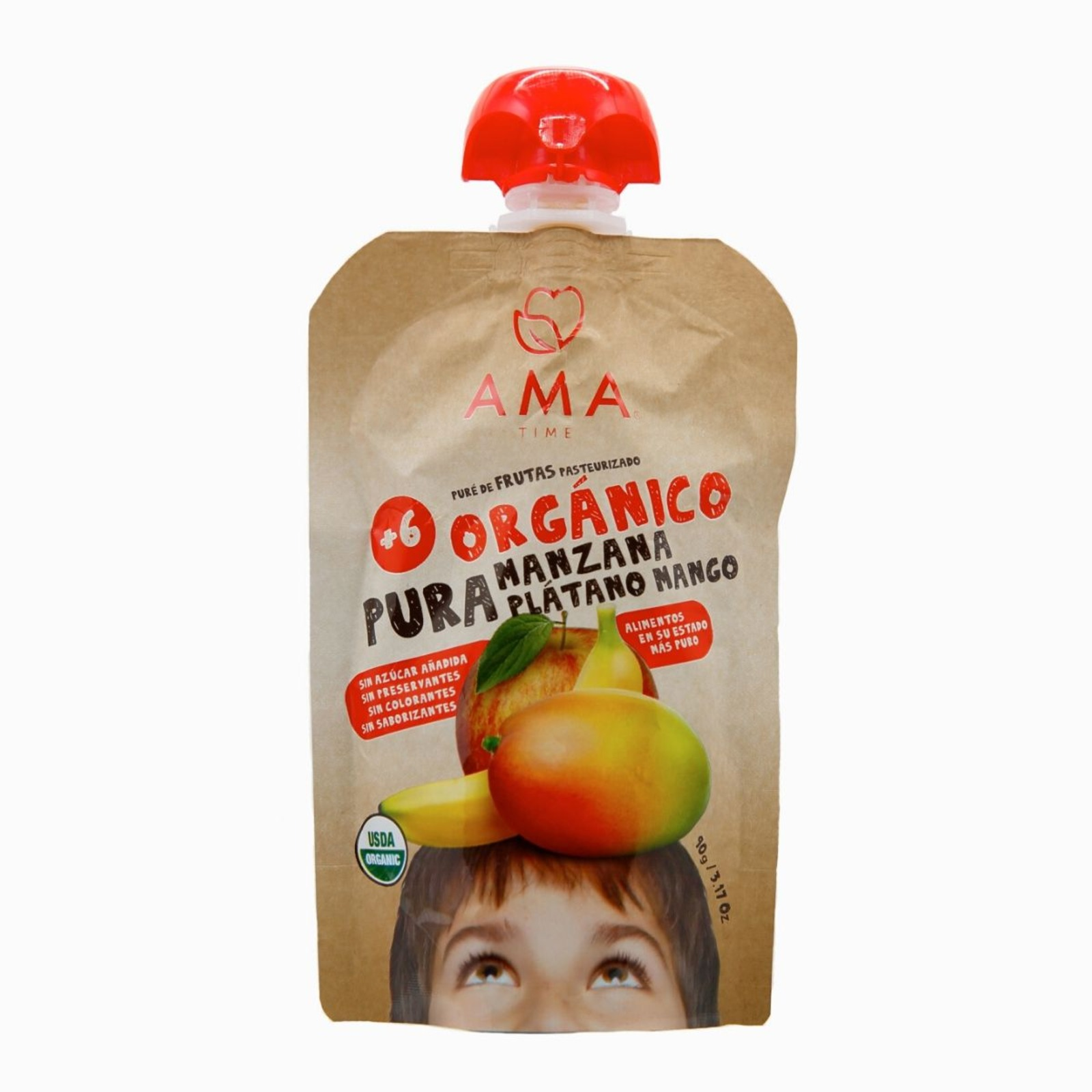 Ama Fruit Pouch - Organic Apple, Banana & Mango Puree