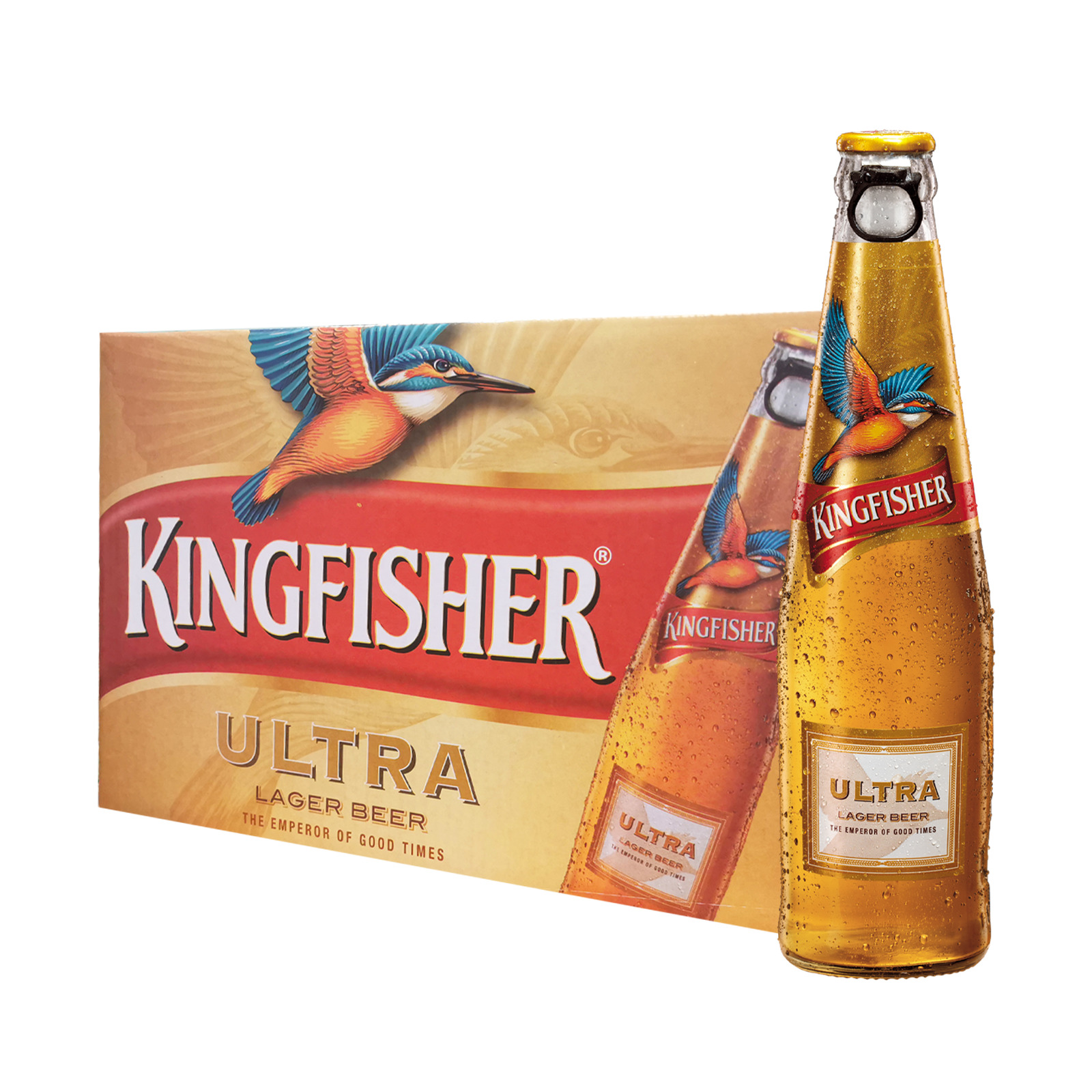 Kingfisher Ultra Lager Beer - Case - By Sonnamera