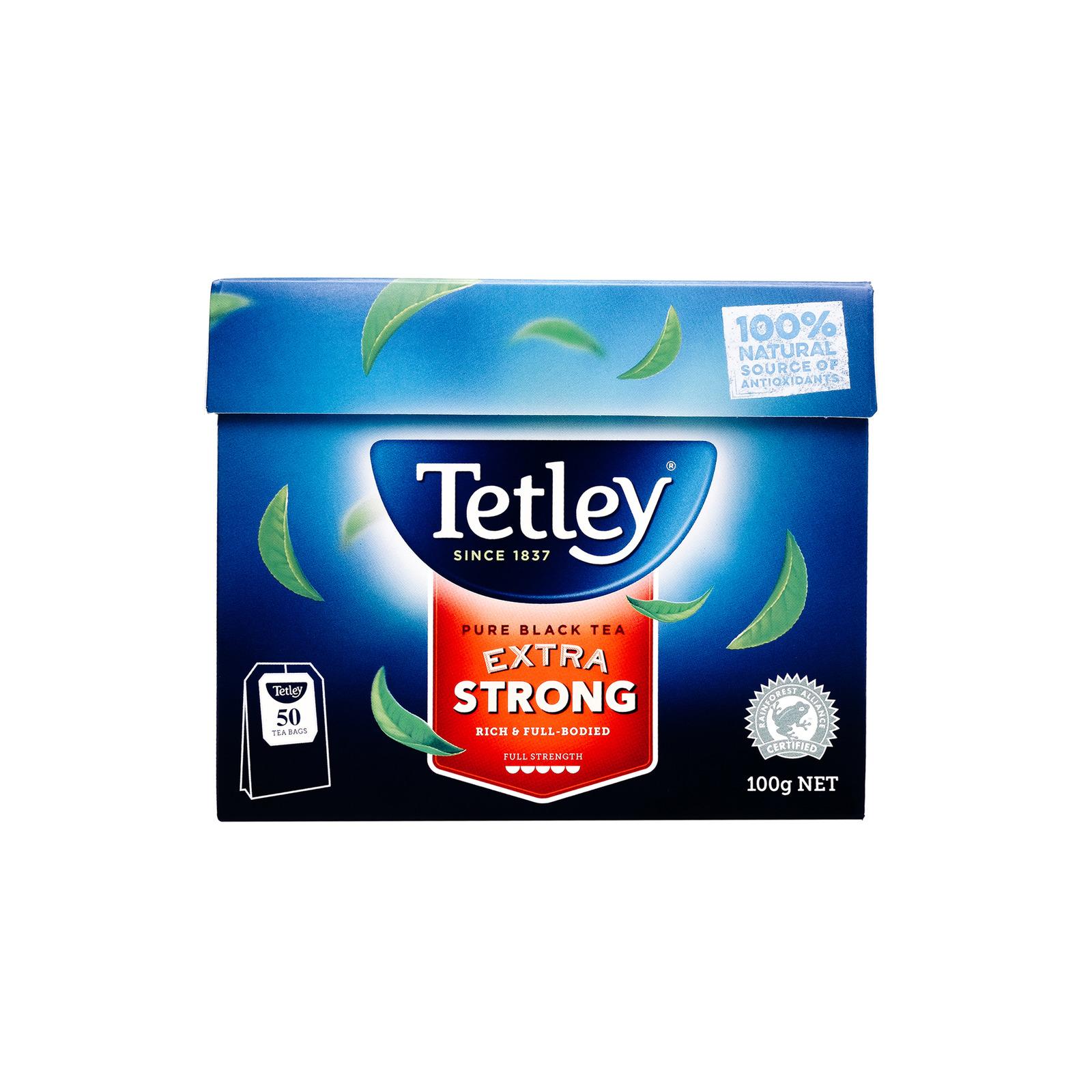 Tetley Australia Pure Black Tea Extra Strong 50s - By Sonnamera