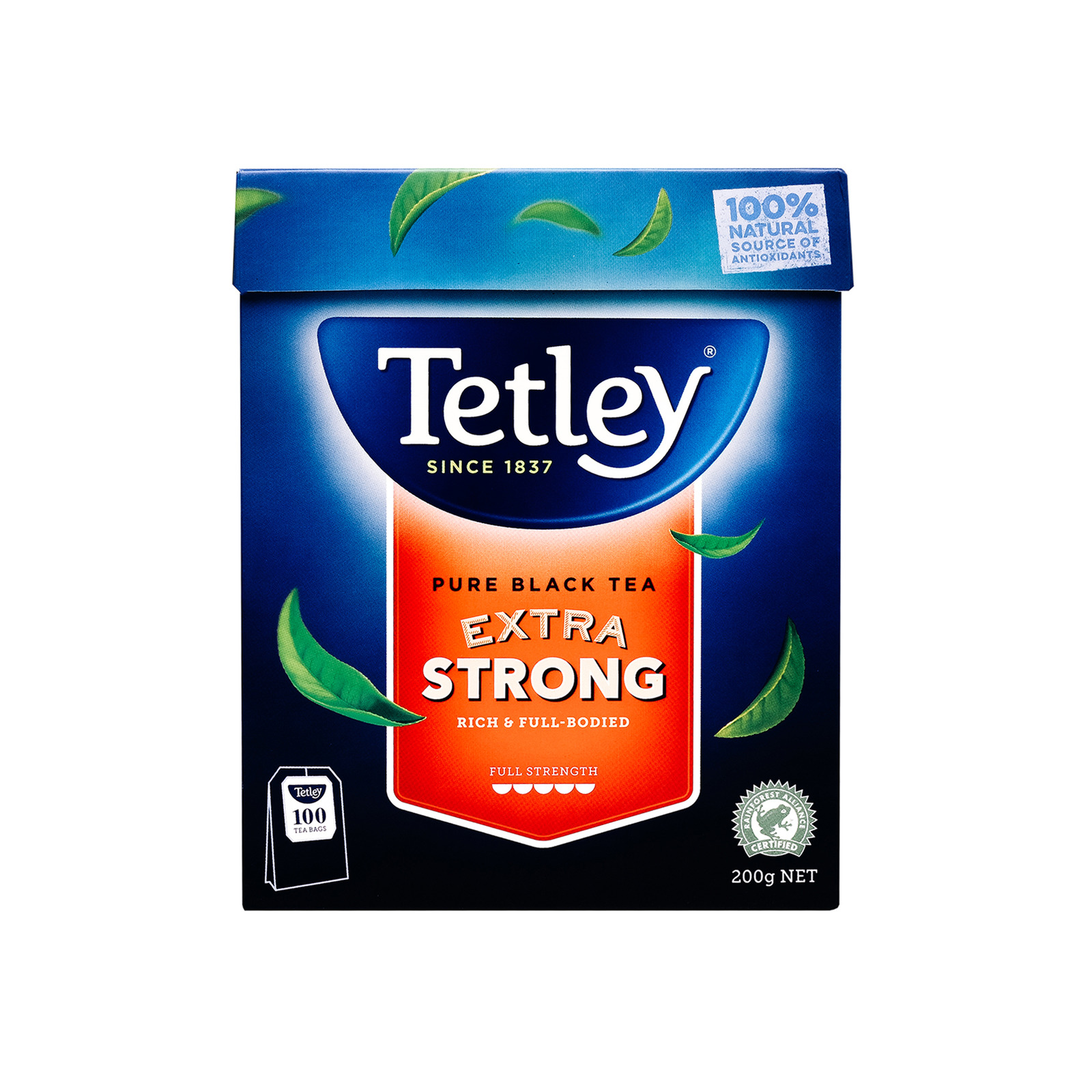 Tetley Australia Pure Black Tea Extra Strong 100s - By Sonnamera