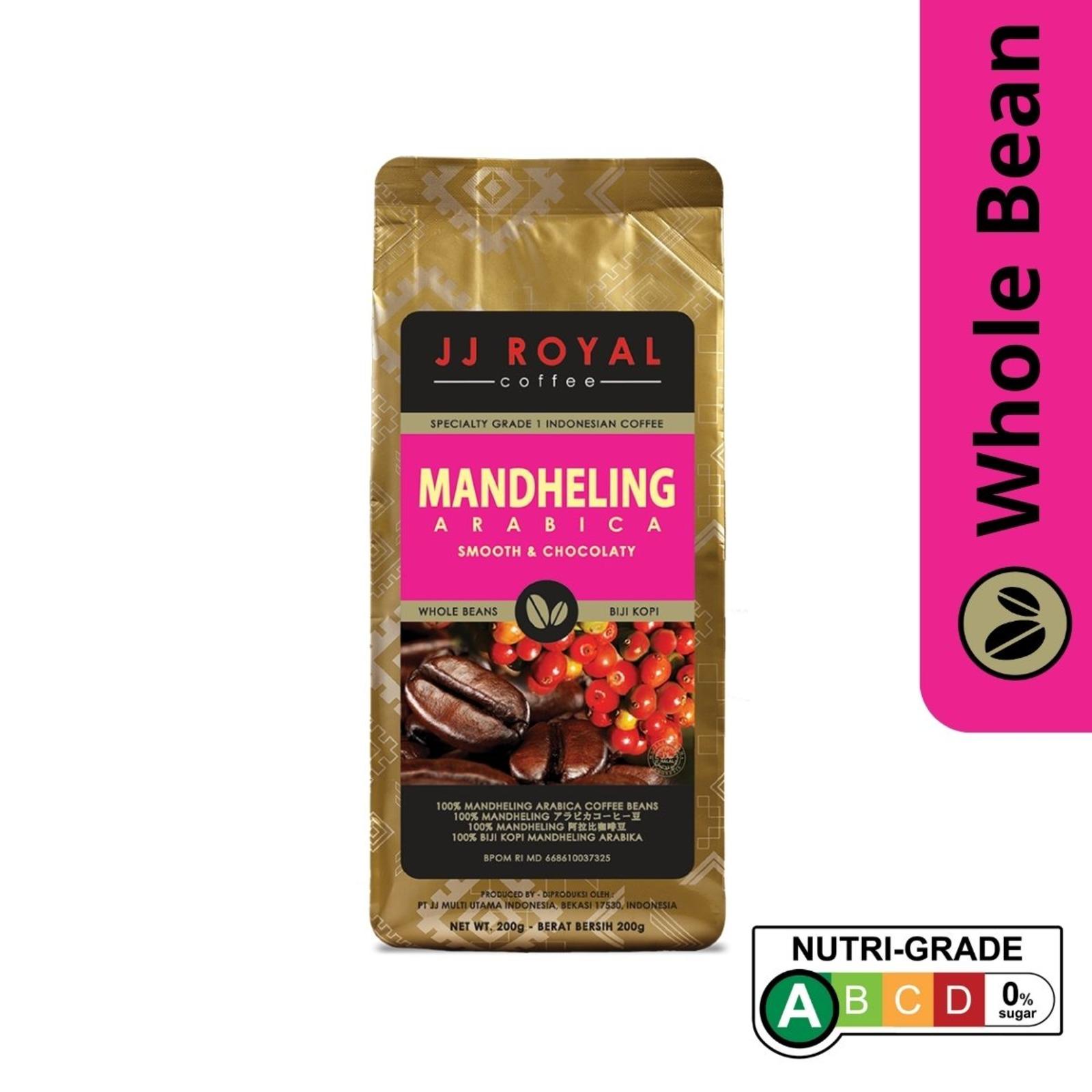 JJ Royal Coffee - Mandheling 100% Arabica (Whole Bean)