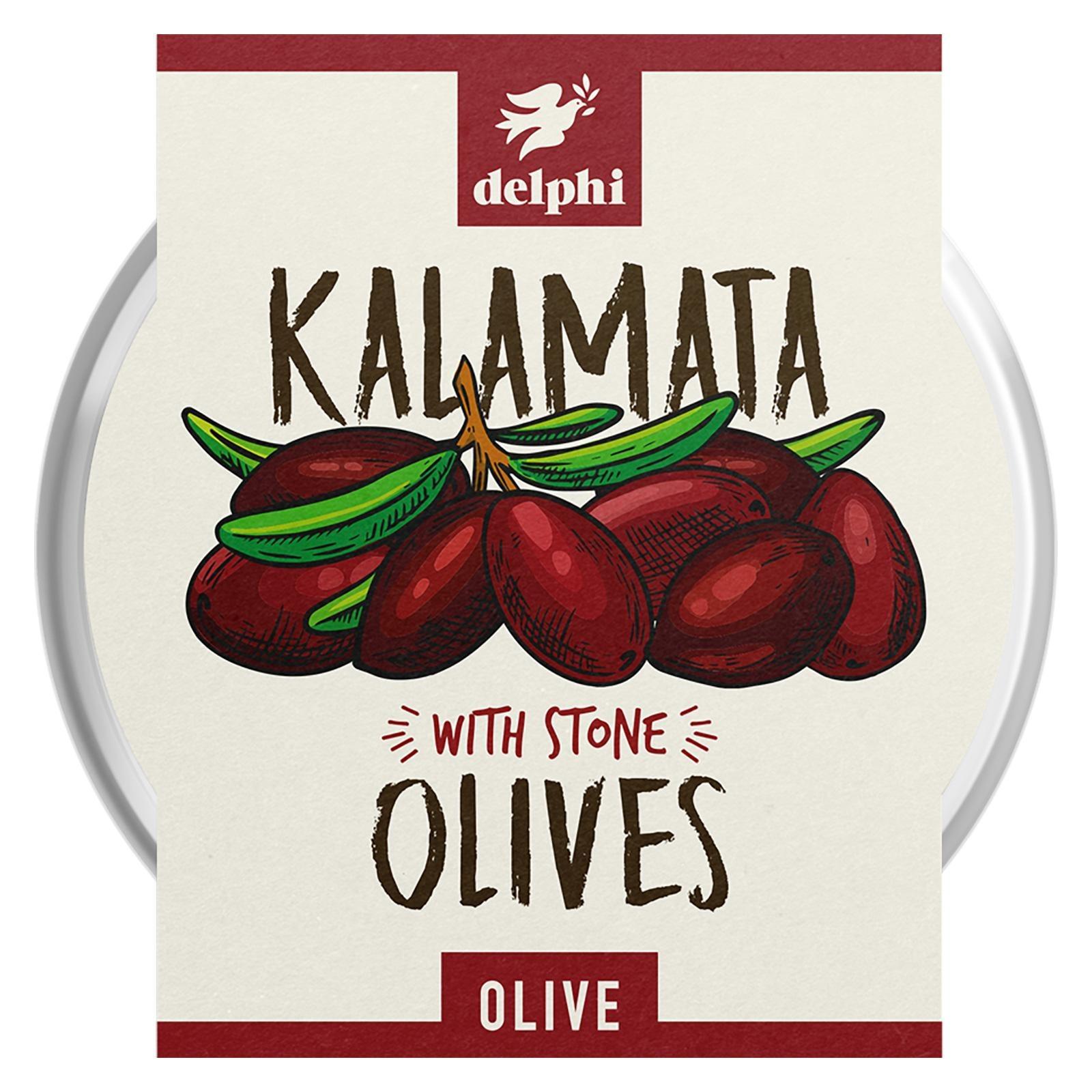 Delphi Black Pitted Kalamata Olives Herbs Gluten&Dairy Free Vegan