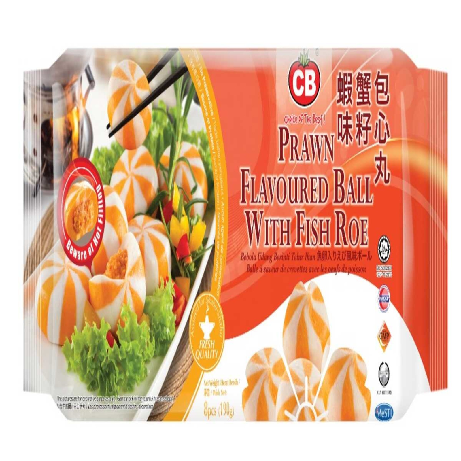 CB Prawn Flavoured Ball With Fish Roe 8Pcs