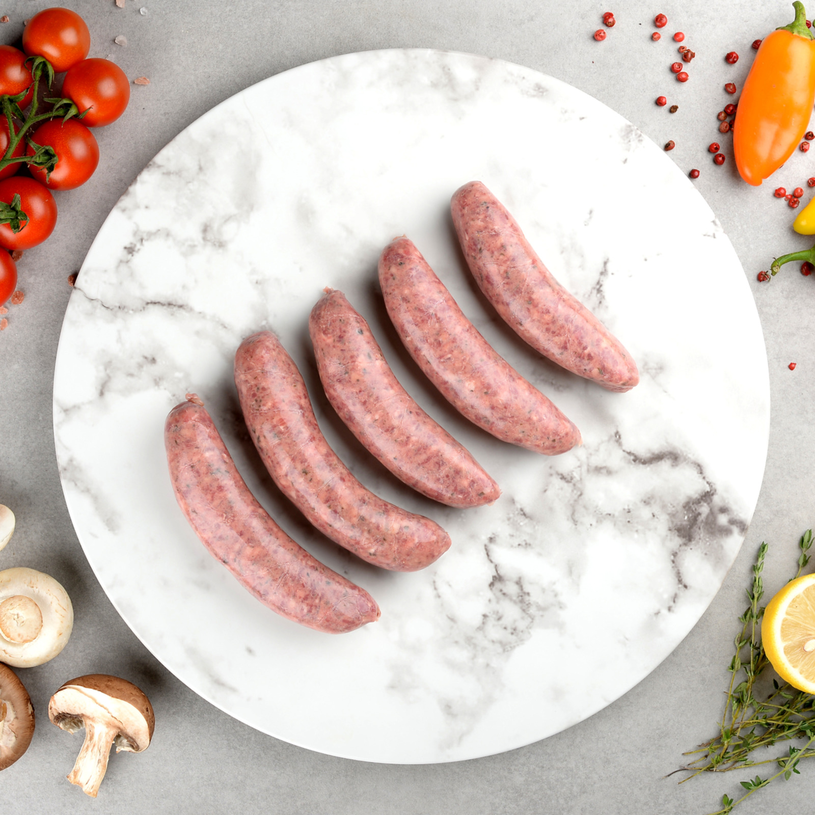 Ryan's Organic Beef Herb And Garlic Sausage (Frozen)