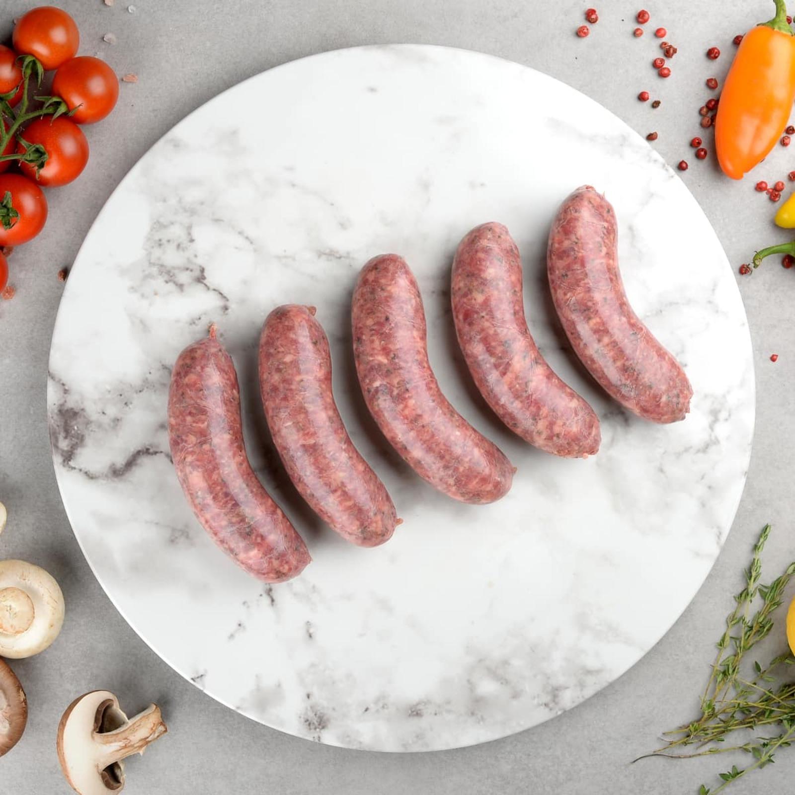 Ryan's Organic Beef Merlot And Cracked Pepper Sausage (Frozen)