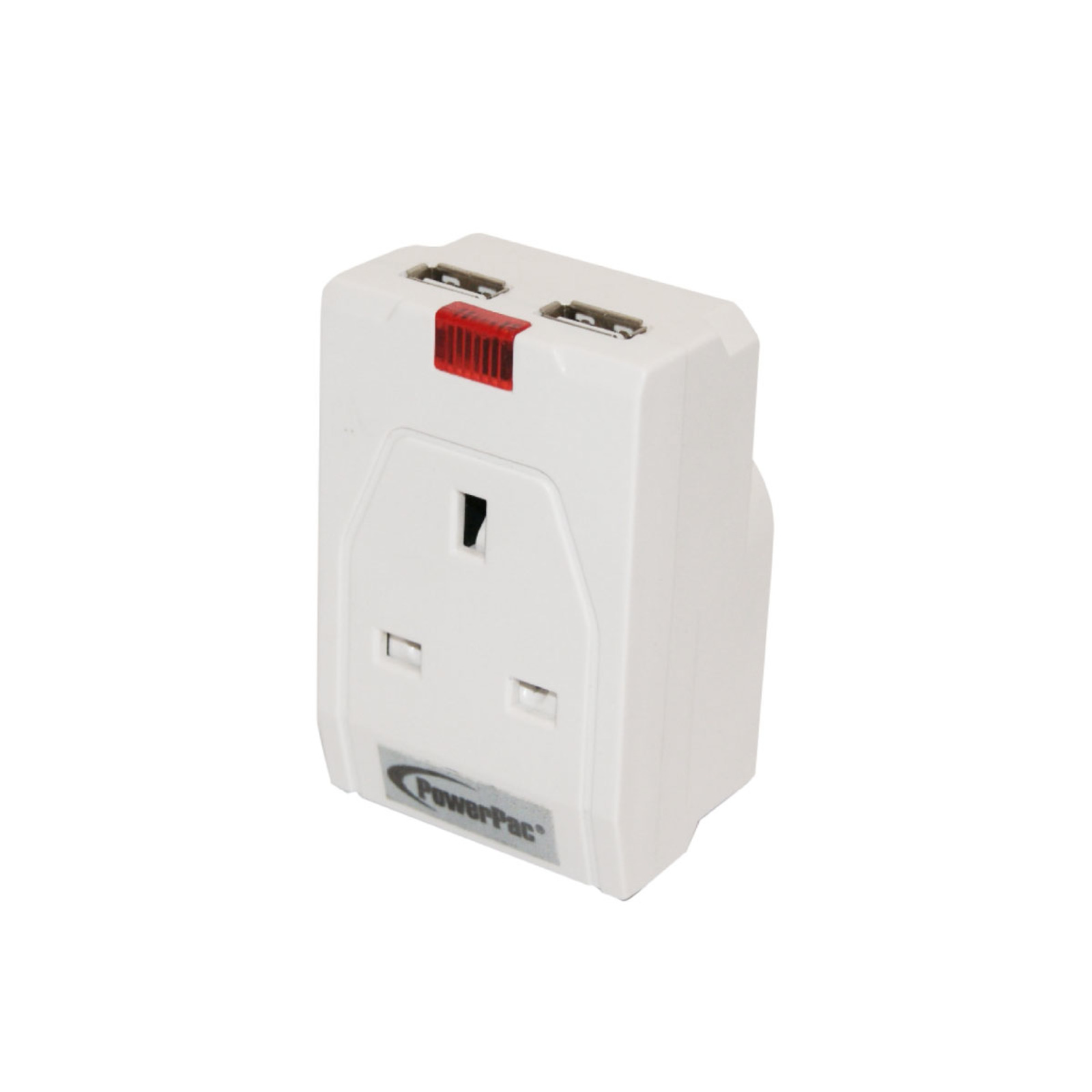 PowerPac Multi Adapter With 2X USB Adapter 2.1A - PP010U