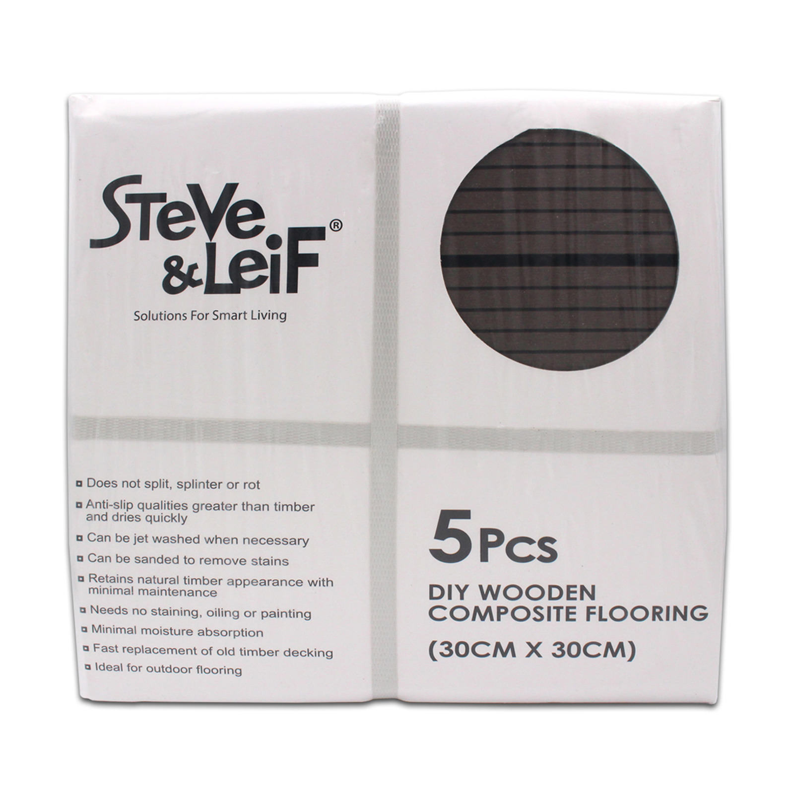 Steve & Leif DIY Composite Floor Coffee (300x300mm) 5Pcs/Pack