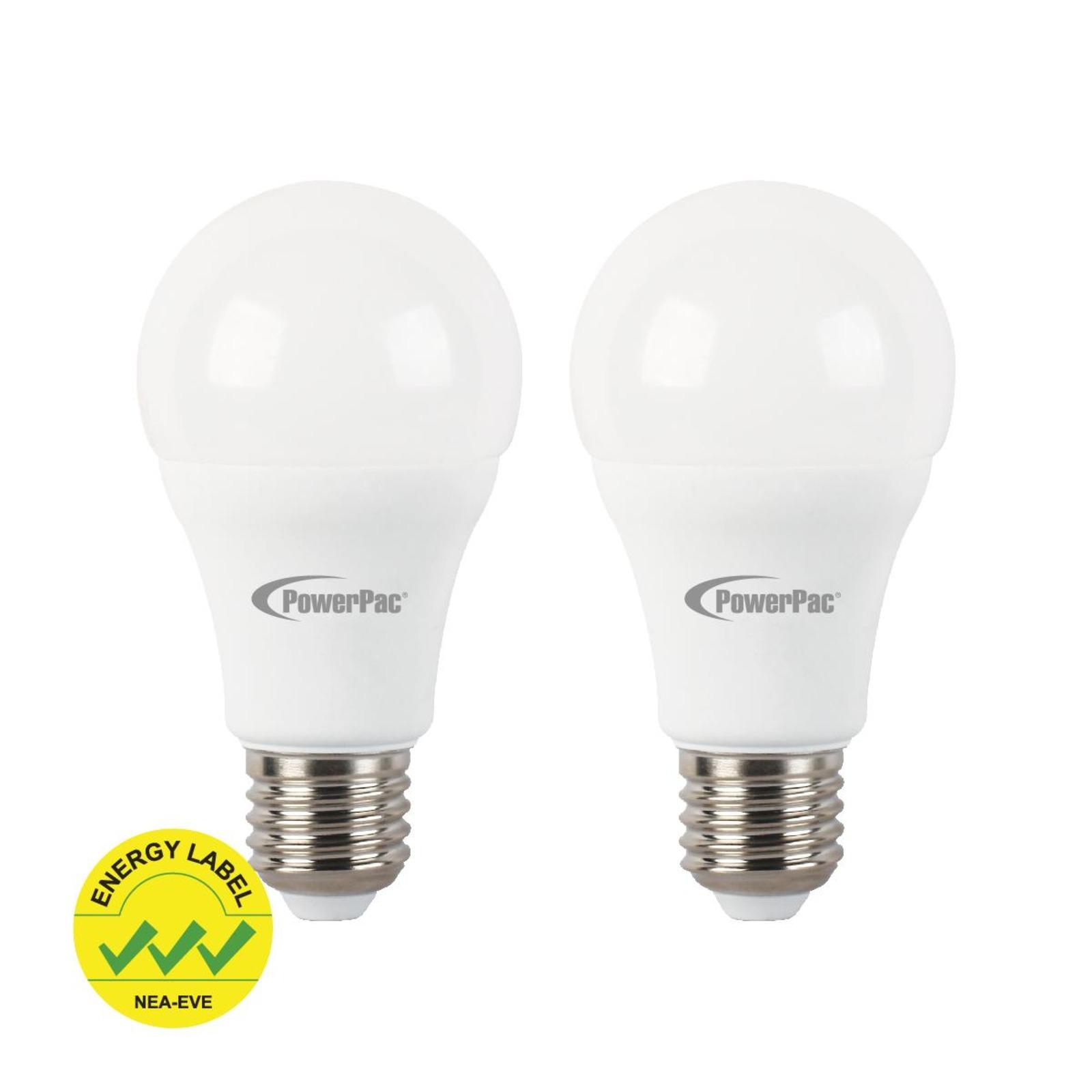 PowerPac 2 Pieces x 5.5W E27 Vertex LED Bulb Daylight PP6551