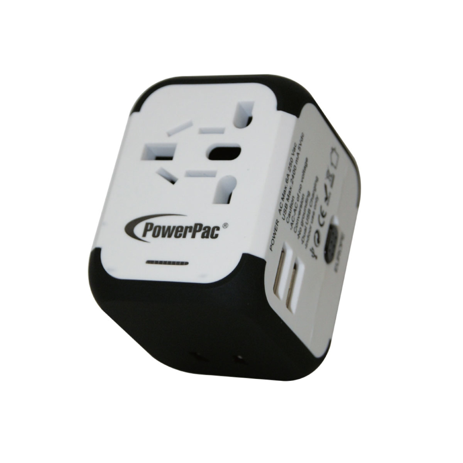PowerPac Multi Travel Adapter With 2x USB Charger PP7971