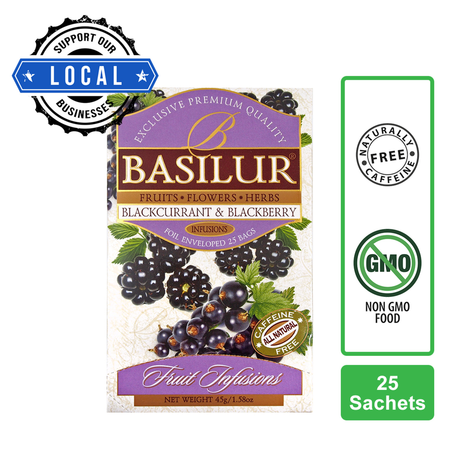 Basilur Caffeine-free Blackcurrant & Blackberry Fruit Infusions