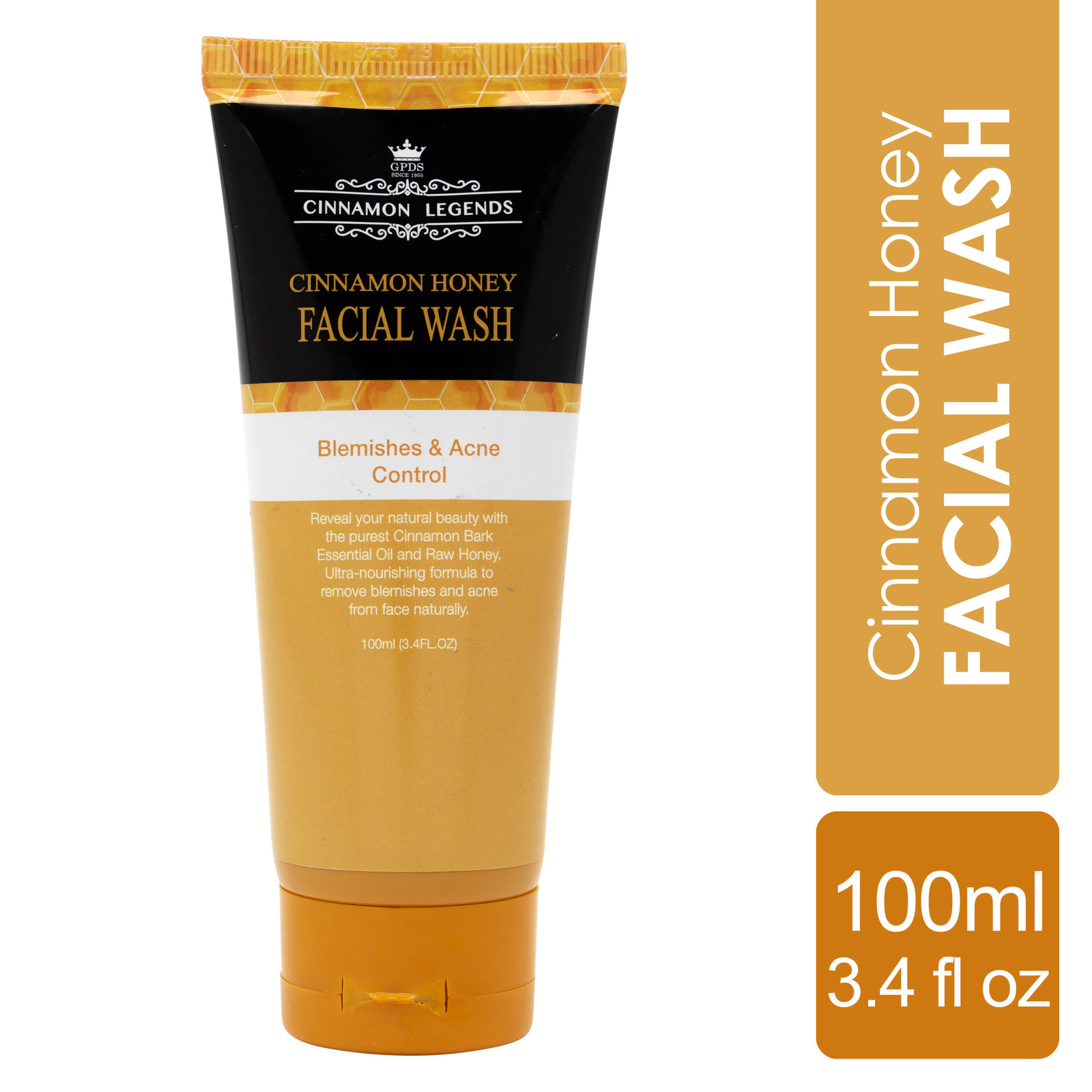 Cinnamon Legends Honey Facial wash 100 ml / 3.4 fl oz