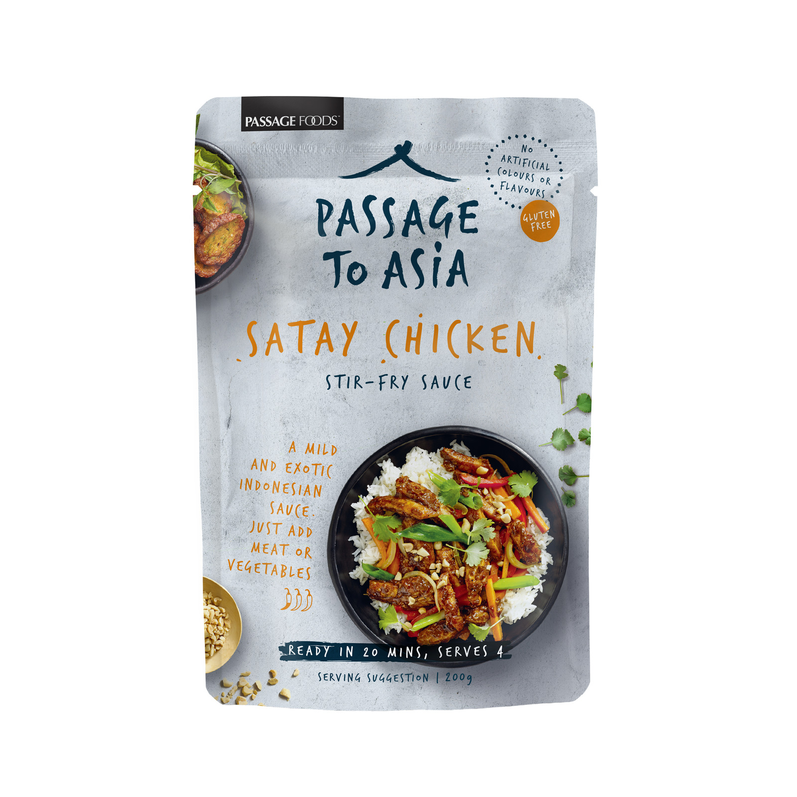 Passage Foods Passage to Asia - Satay Chicken Stir Fry Sauce - By Sonnamera