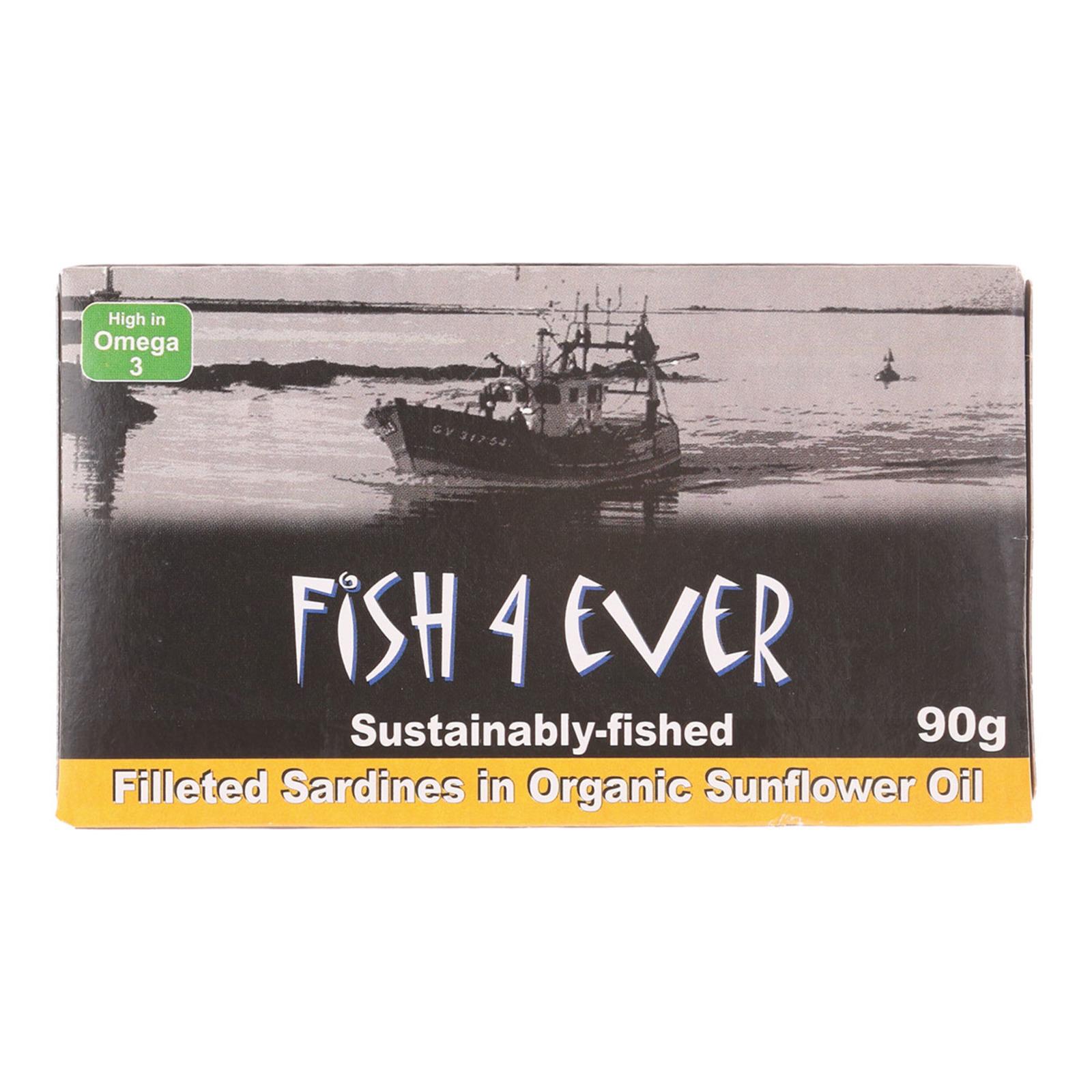 Fish4ever Sardine Fillets In Organic Sunflower Oil