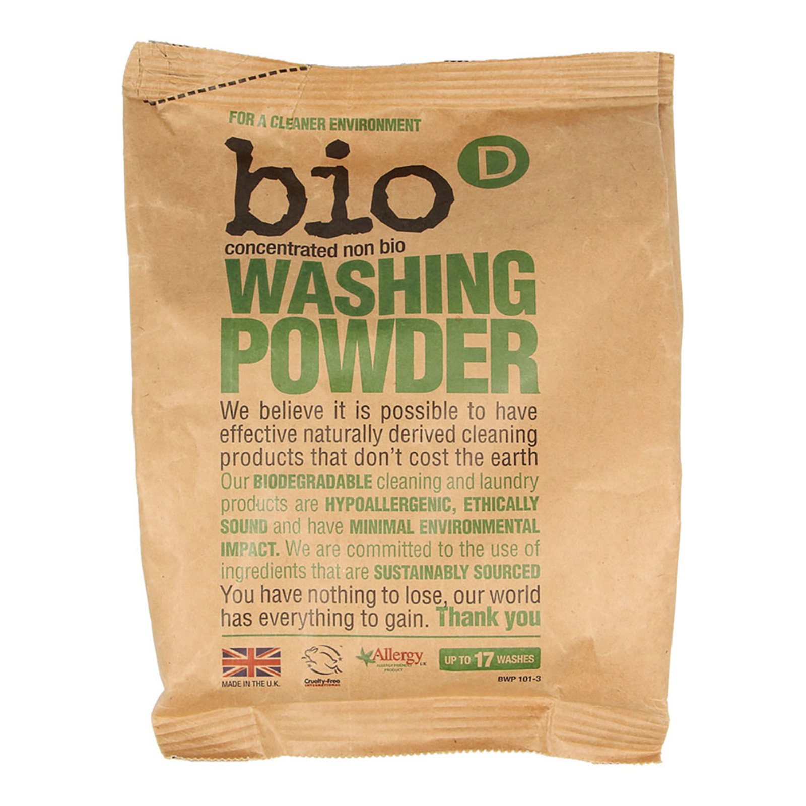 Bio D Washing Powder (1kg) - By Wholesome Harvest