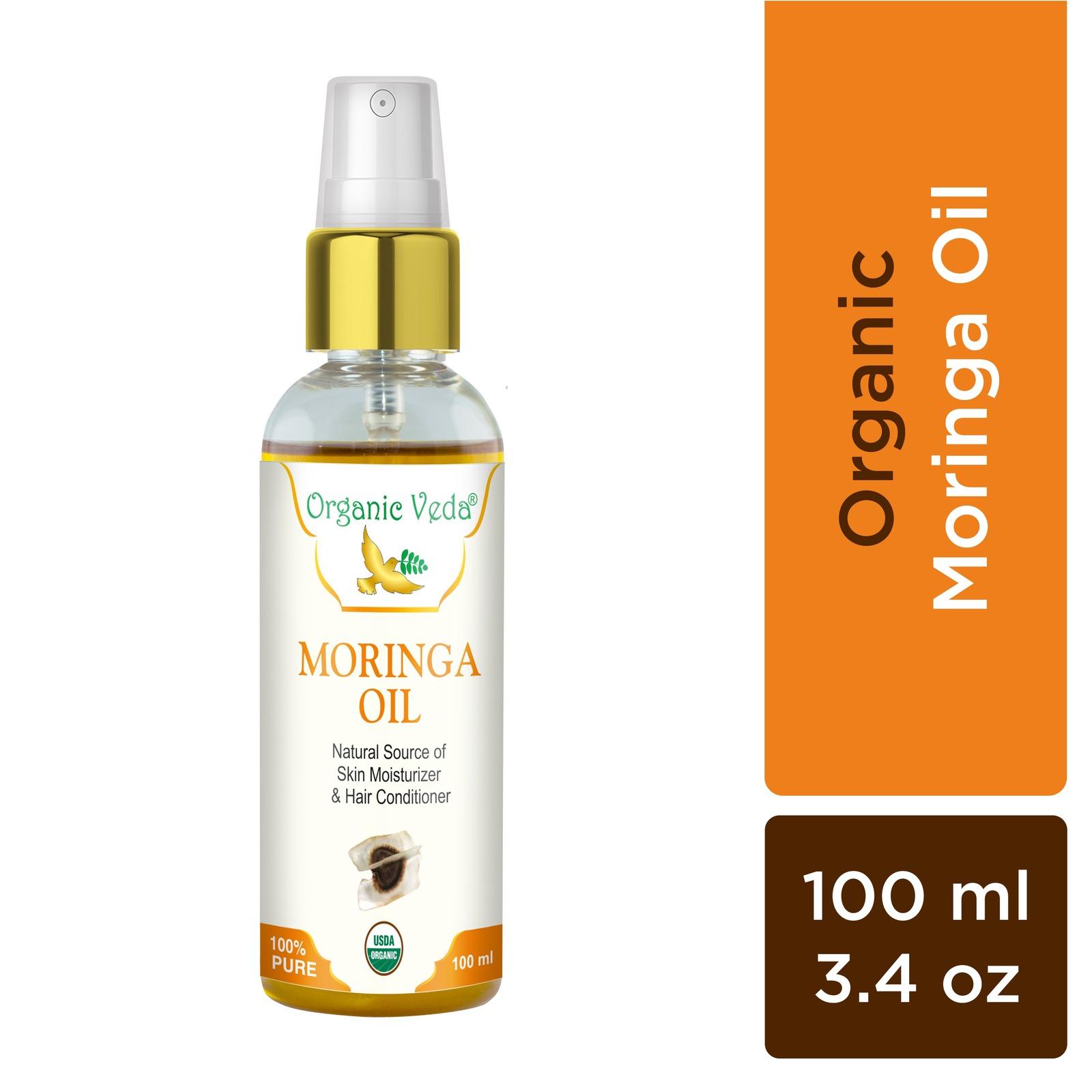 Organic Veda Moringa Oil 100 ml / 3.4 fl oz