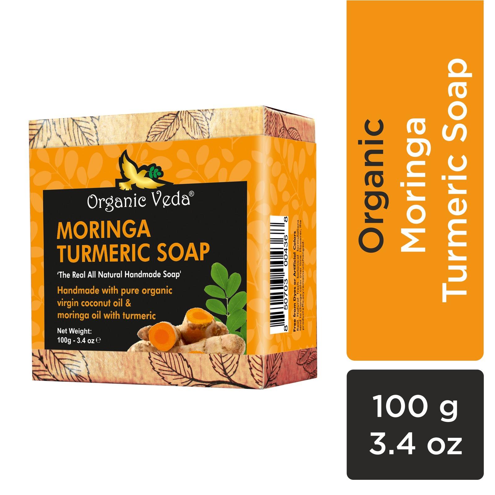 Organic Veda Moringa Turmeric Soap 100 Grams / 3.4 oz