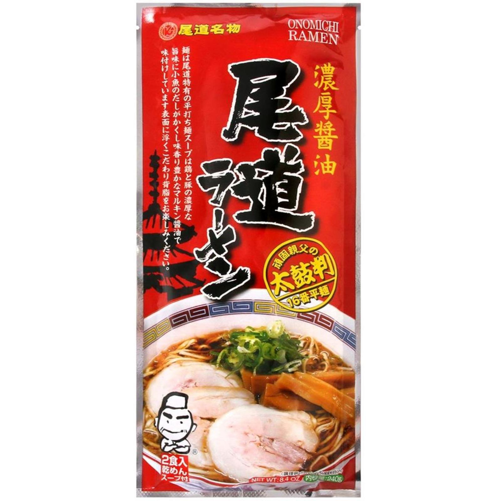 Fukuyama Onomichi Ramen Dry Ramen Noodle With Soup Base