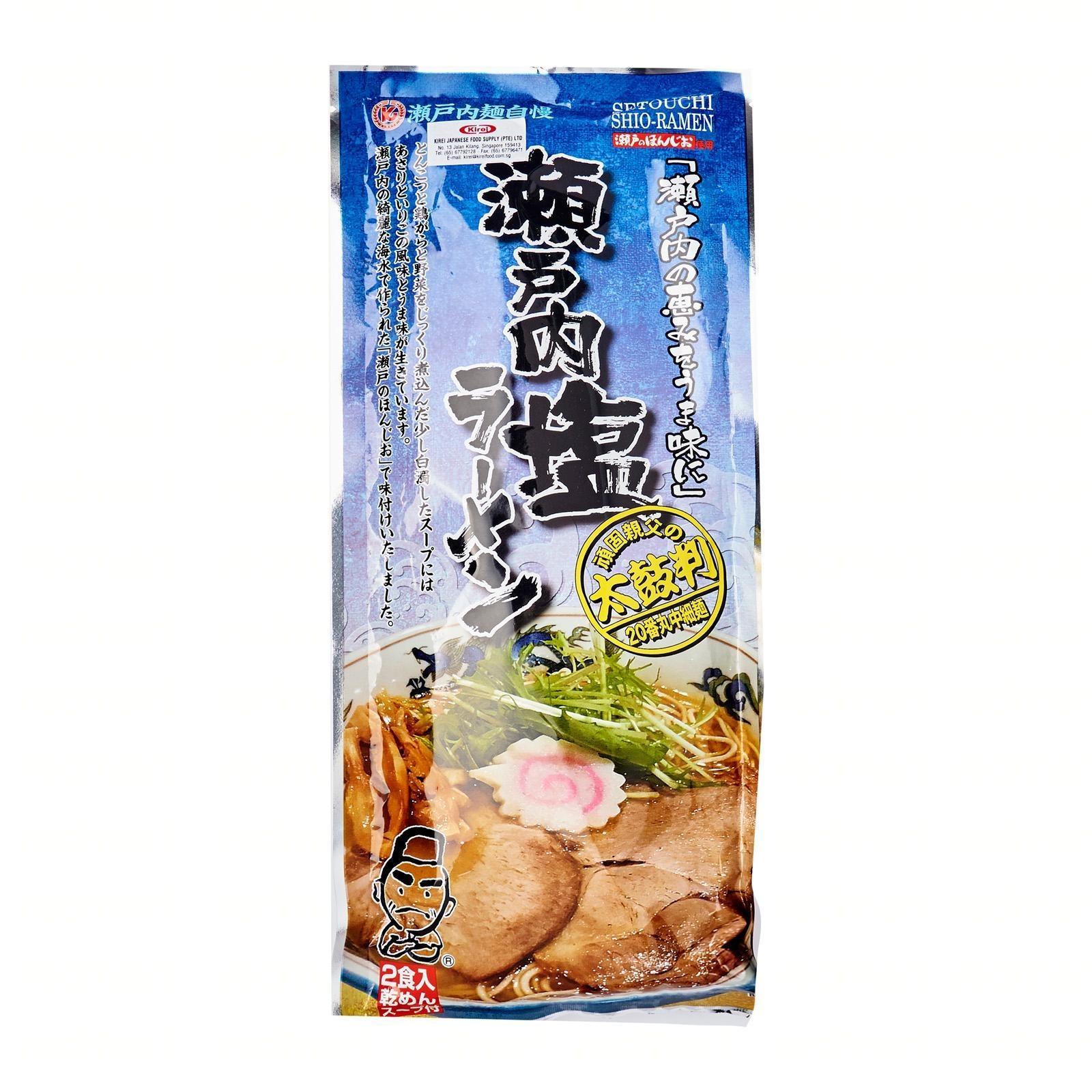 Fukuyama Setouchi Shio Dry Ramen Noodle With Soup Base