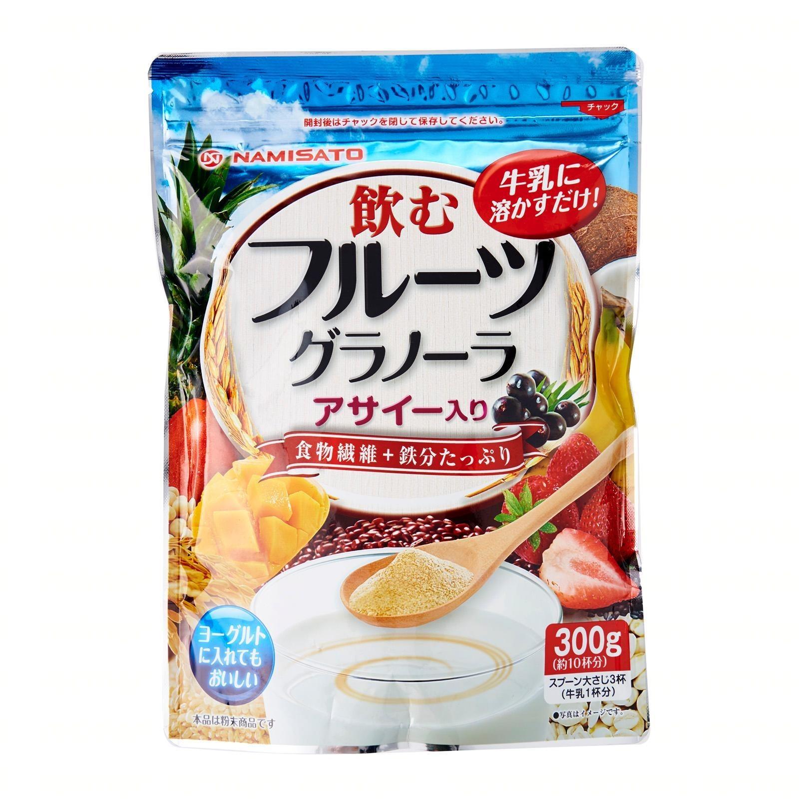 Namisato Acai Fruit Granola Beverage Powder - Kirei