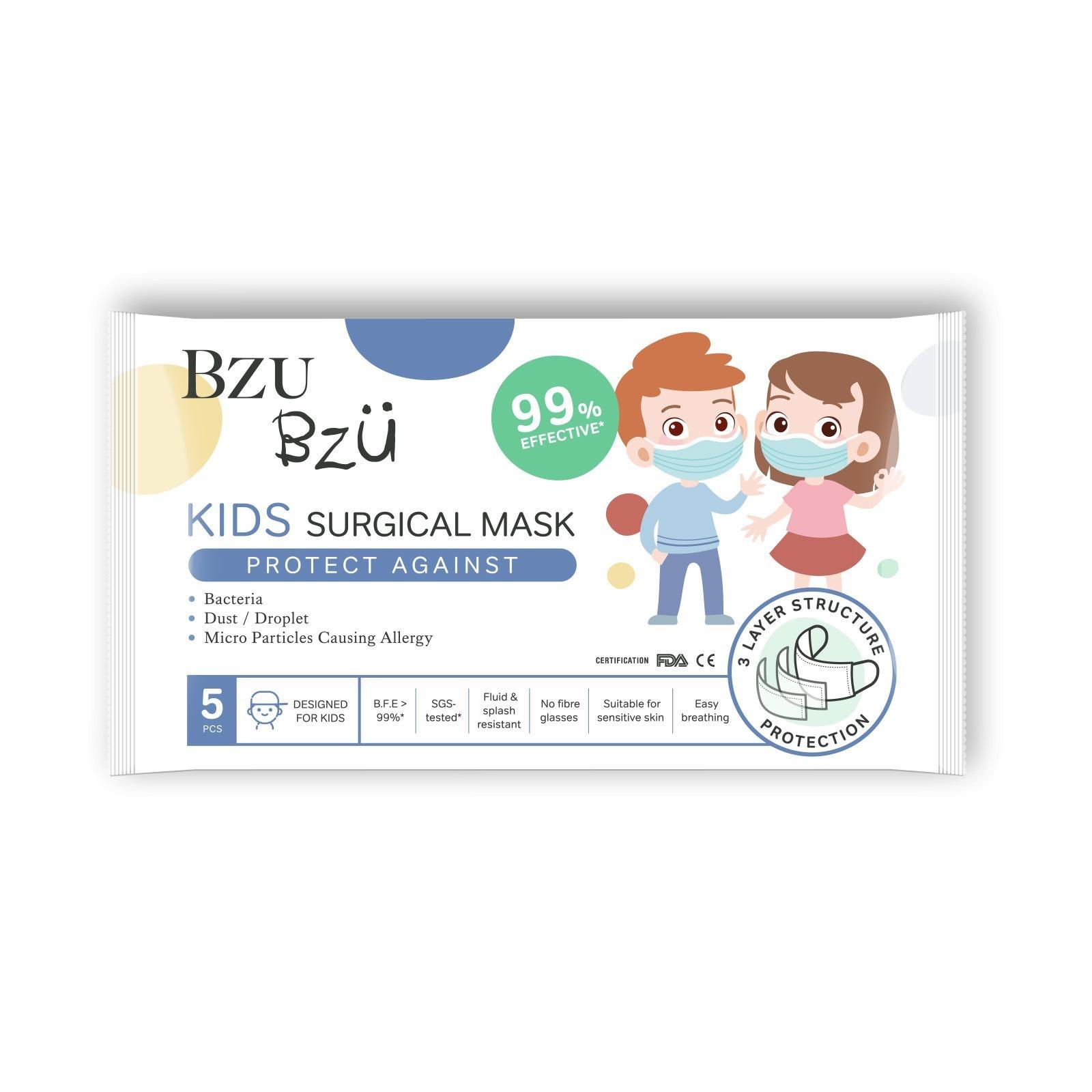 BZU BZU Kids Medical Surgical Disposable Mask 5s