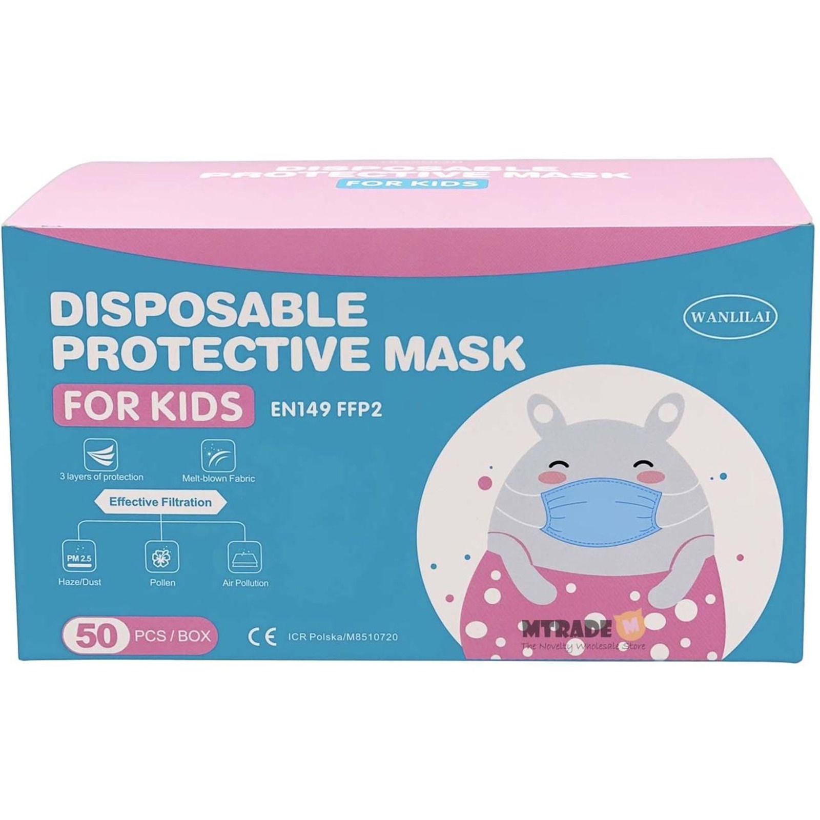 MTRADE 3-Layer Children Disposable Face Mask