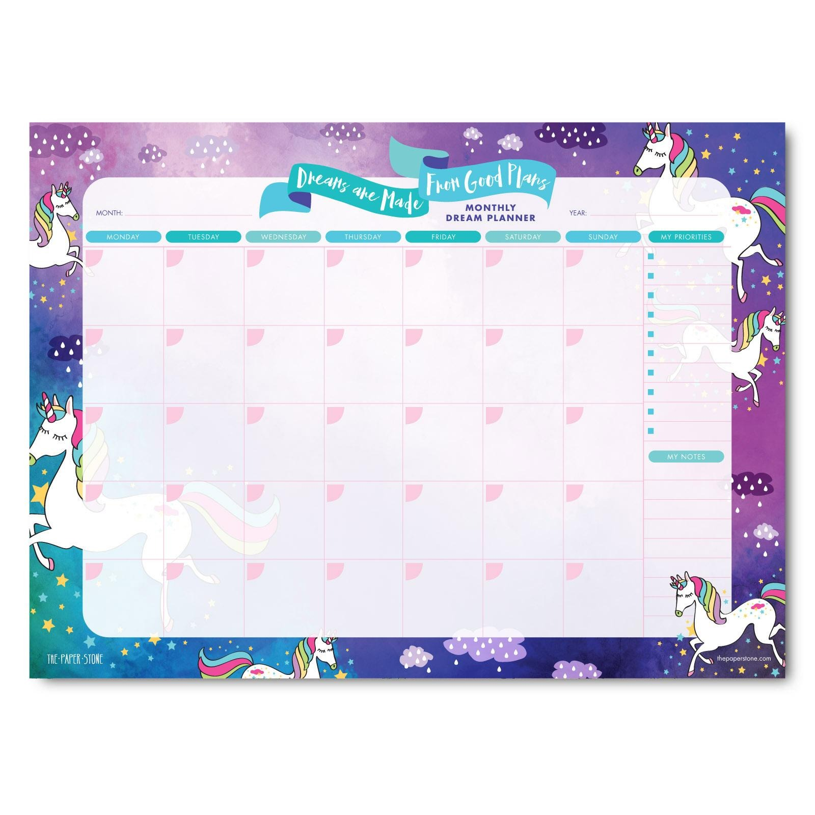 The Paper Stone A4 Planner - Dreams Are Made Unicorns